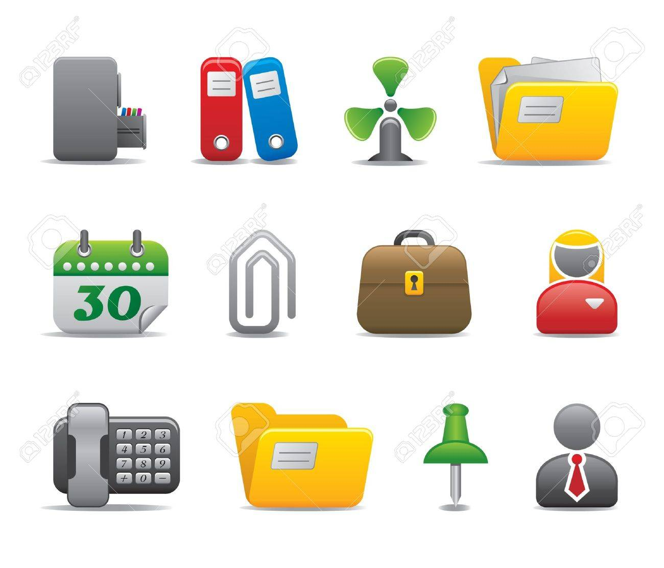 office icons - part II Stock Vector - 11206071
