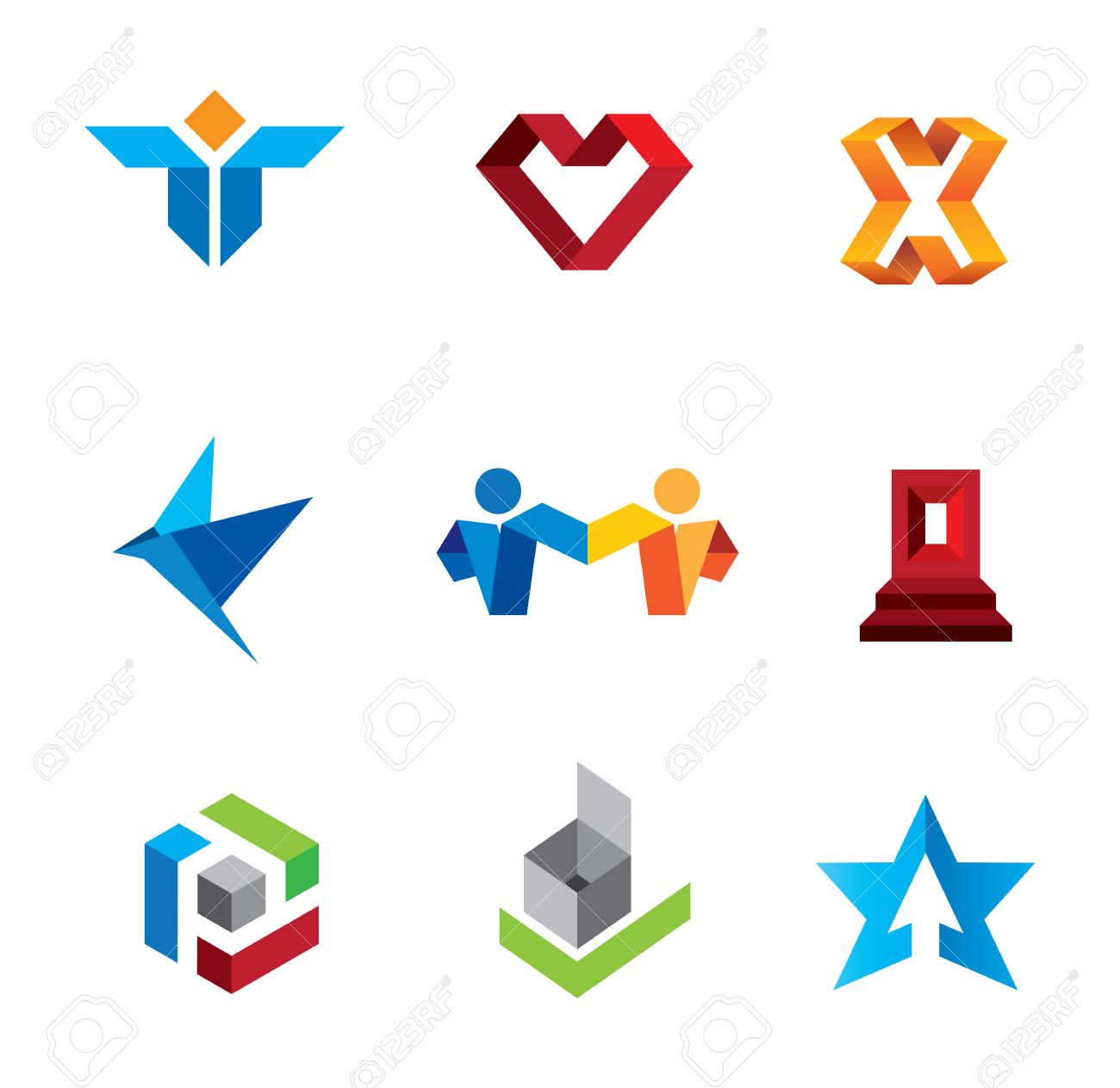 Fold symbols of human creativity and innovation genius logo fold symbols of human creativity and innovation genius logo template stock vector 23283608 biocorpaavc Images