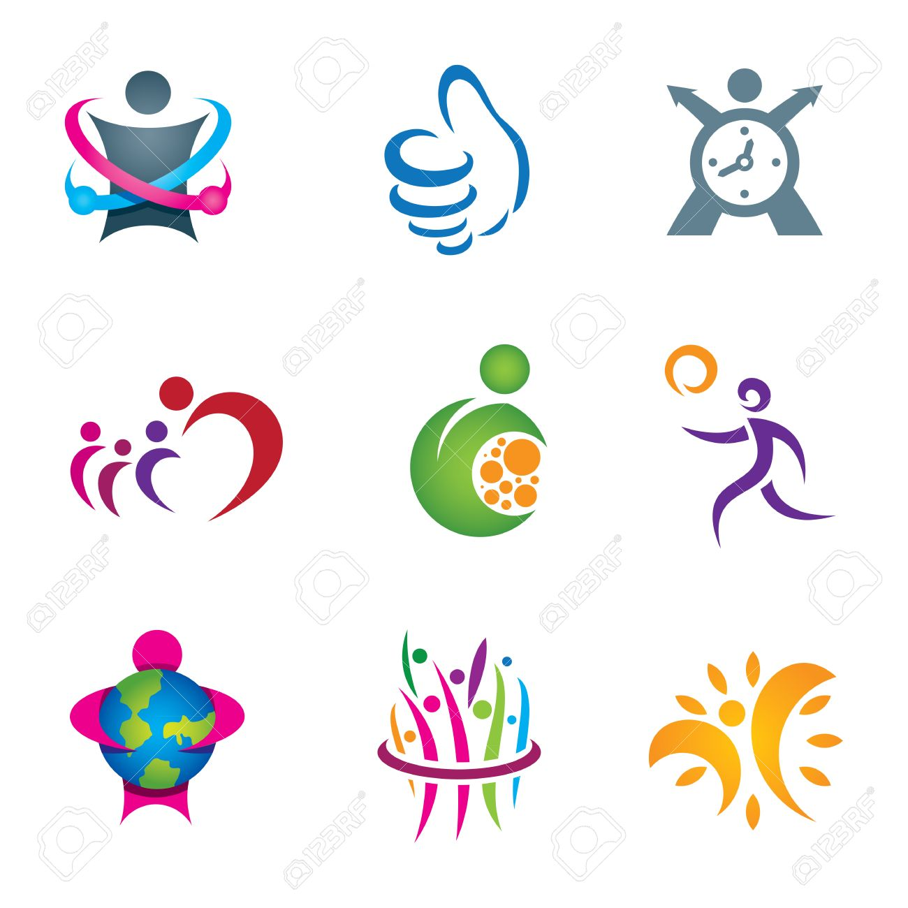 Positive social people exploring and living happy healthy life Stock Vector - 23866670