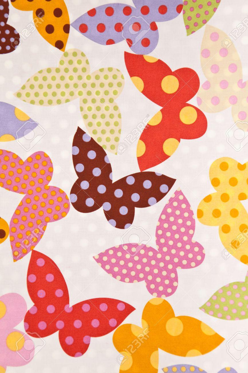 Scrapbook paper as wallpaper - Fabric Wallpaper Background Stock Photo 10543148