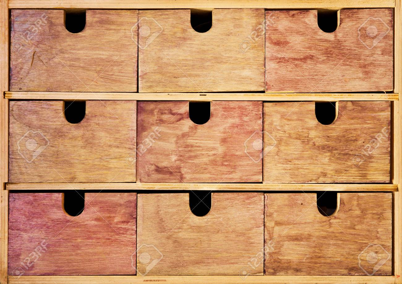 Vintage wooden drawer Stock Photo - 15258593