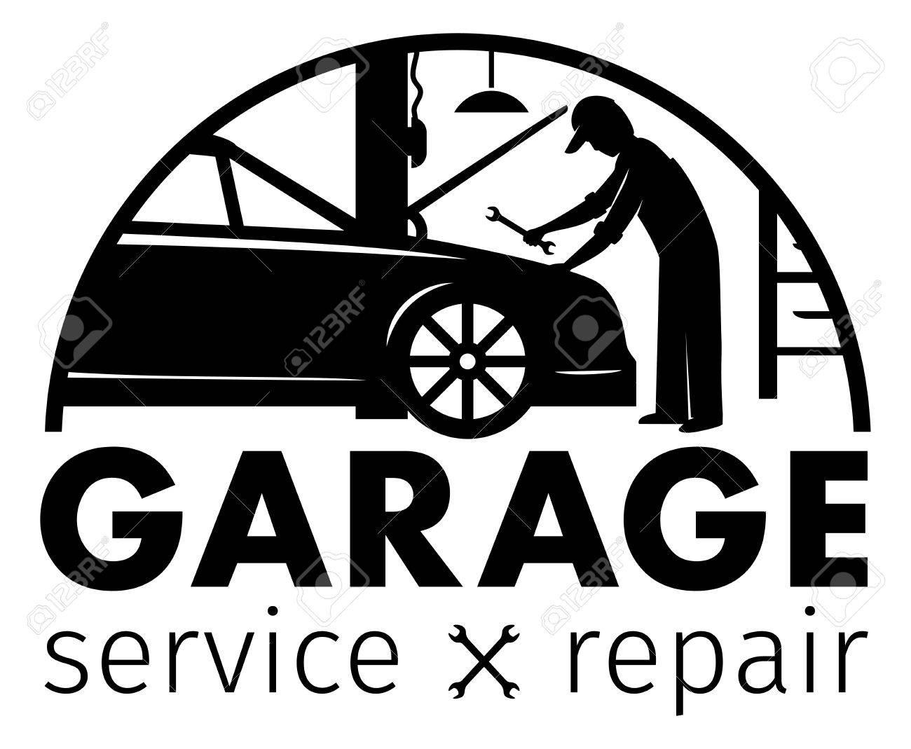 Auto Center, Garage Service Und Reparatur Logo, Vektor-Vorlage ...