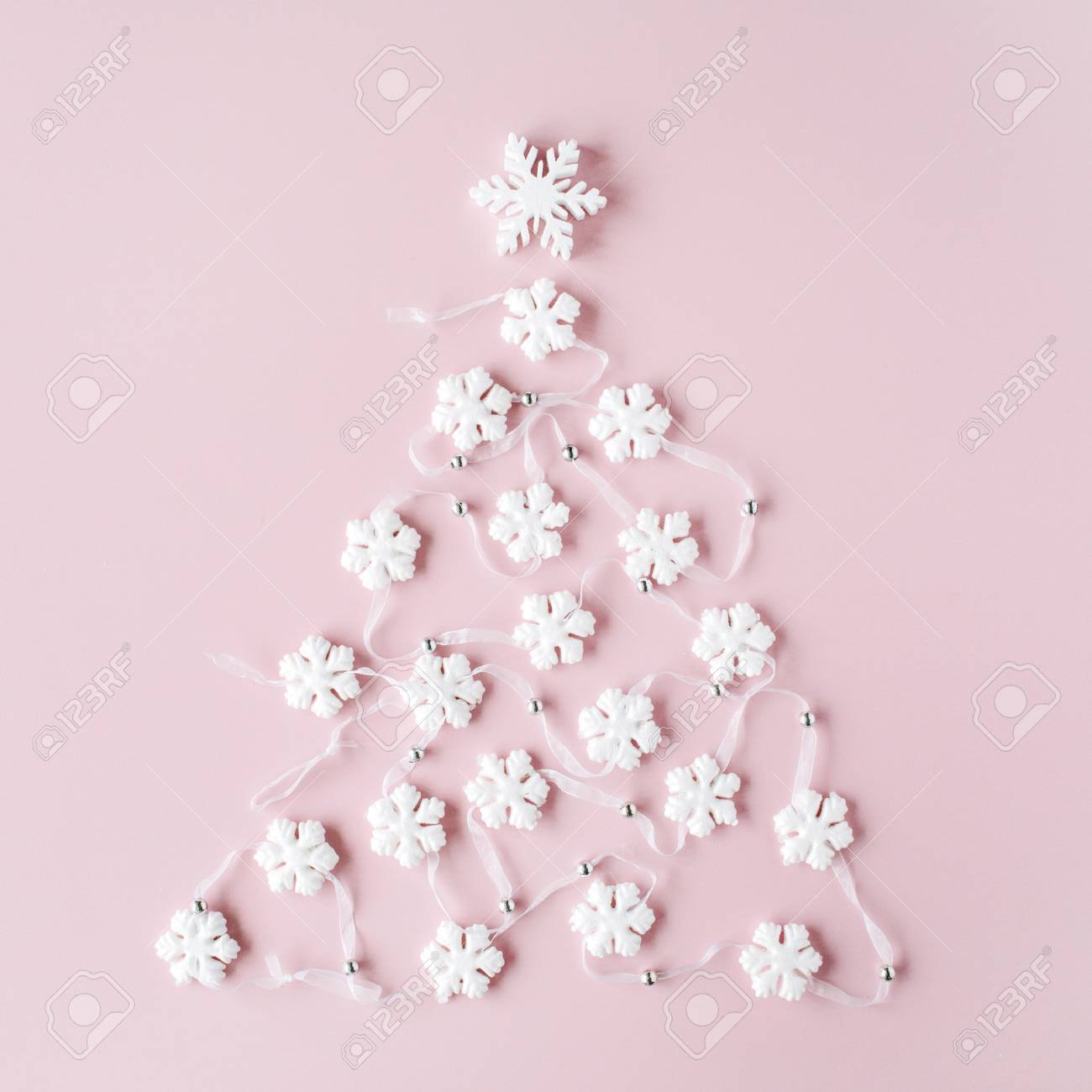white christmas tree decoration on pink background christmas stock photo picture and royalty free image image 67721025 white christmas tree decoration on pink background christmas