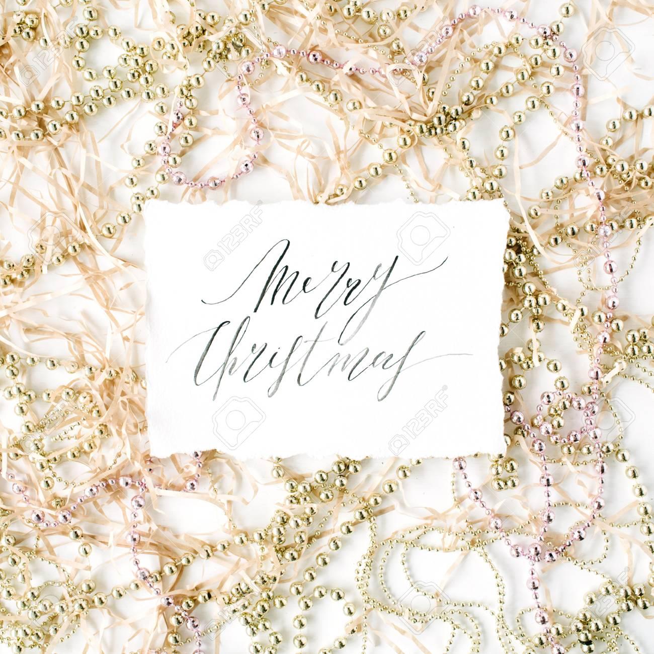 Parole Di Buon Natale.Parole Di Calligrafia Buon Natale E Decorazione Di Orpelli Di Natale Vista Piana Vista Dall Alto