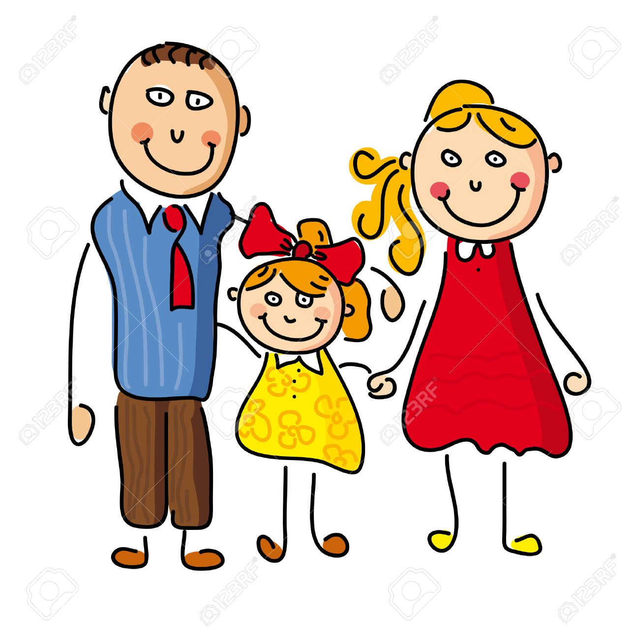 illustration with a happy family father mother daughter royalty rh 123rf com  mom and daughter love clipart