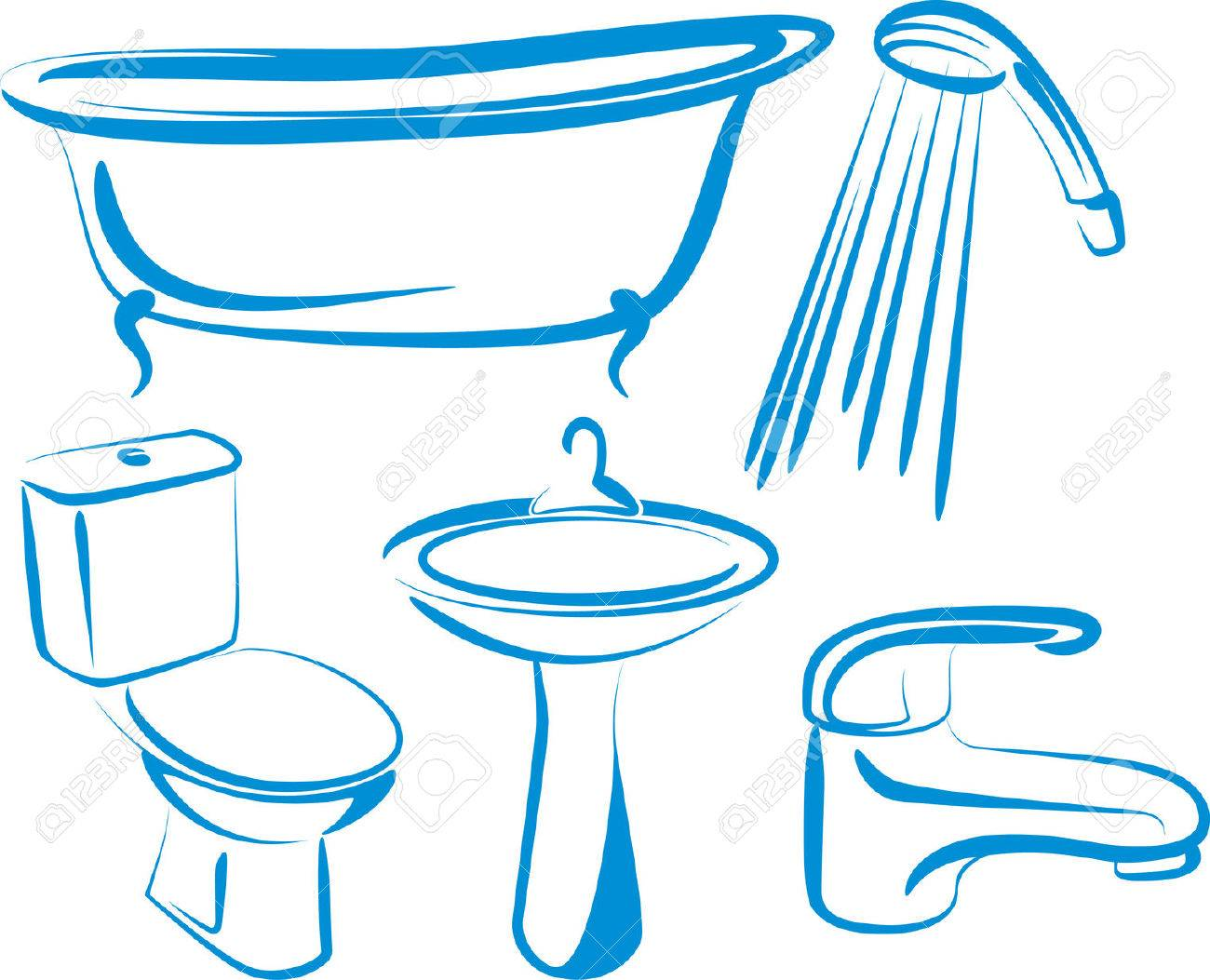 Bathroom counter clipart