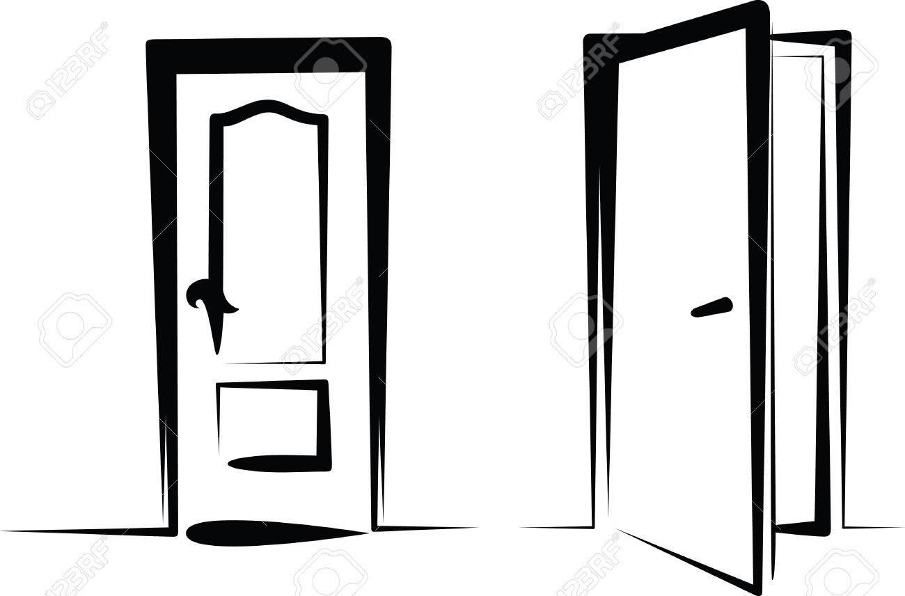 Open Door Clipart Foto de archivo - puertas