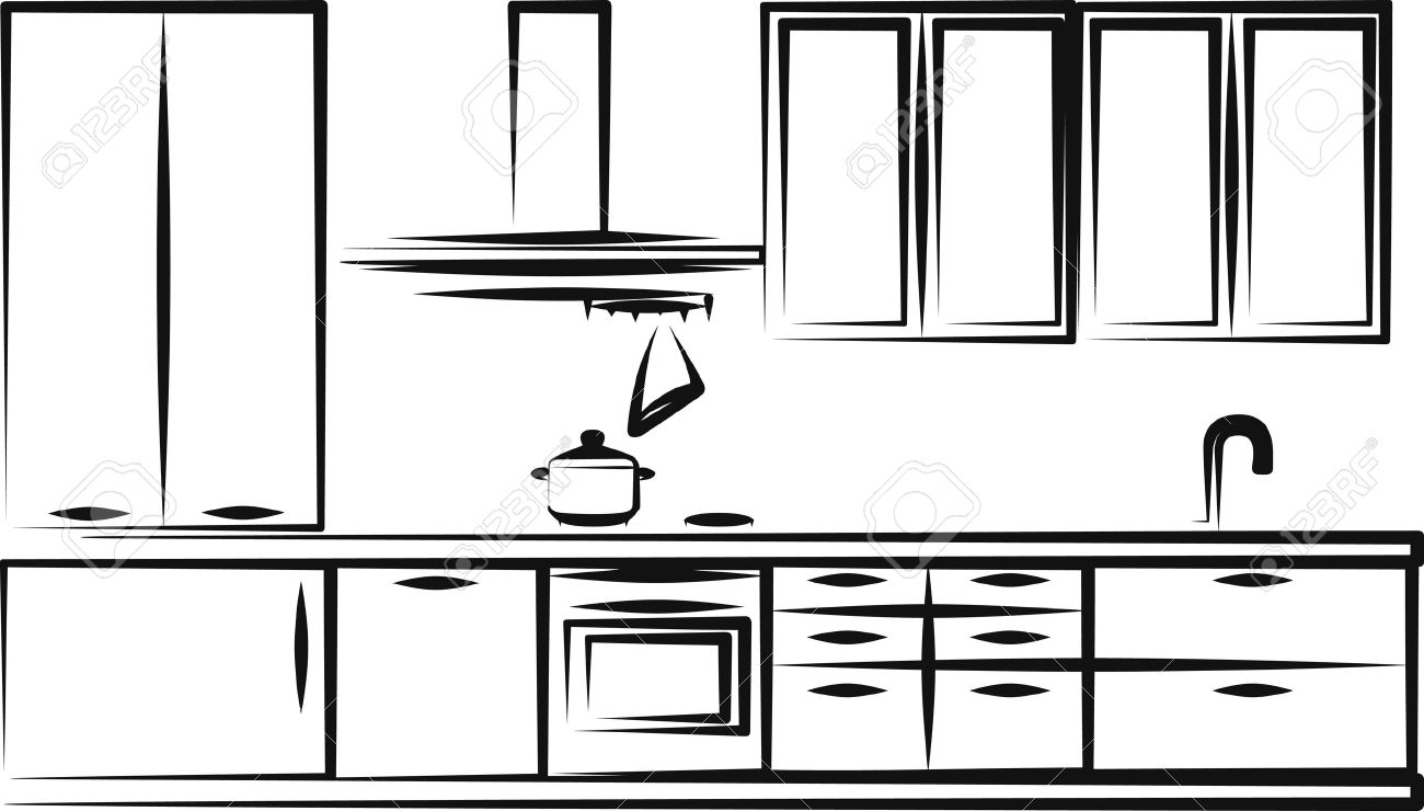 Kitchen Furniture Royalty Free Cliparts, Vectors, And Stock ...