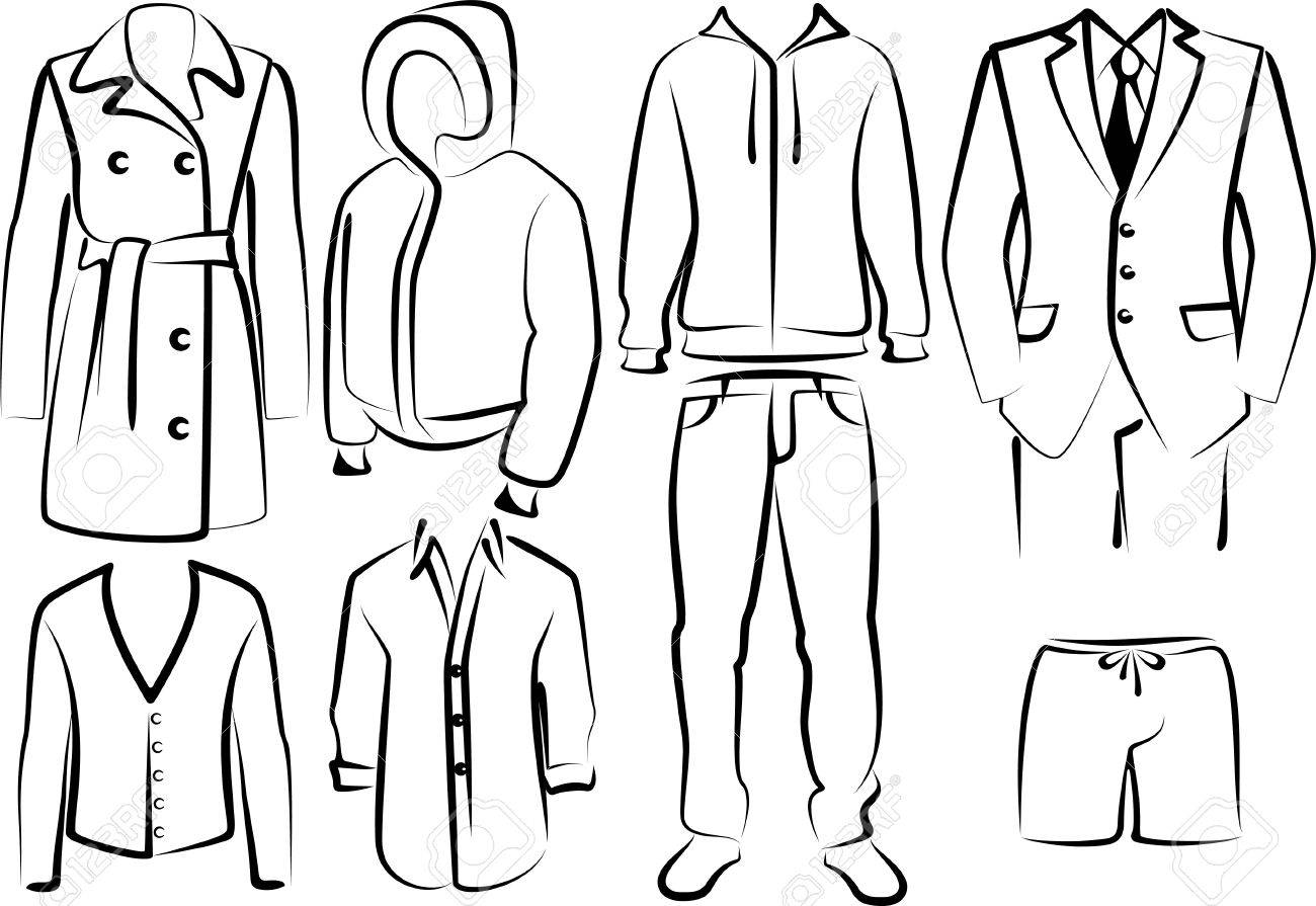 collection of men's clothes Stock Vector - 9507496