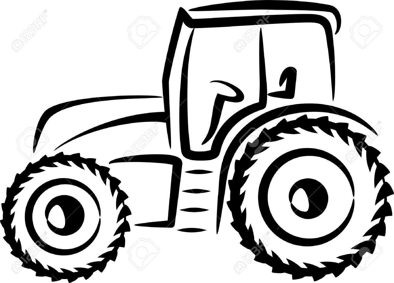simple illustration with a tractor Stock Vector - 9507485