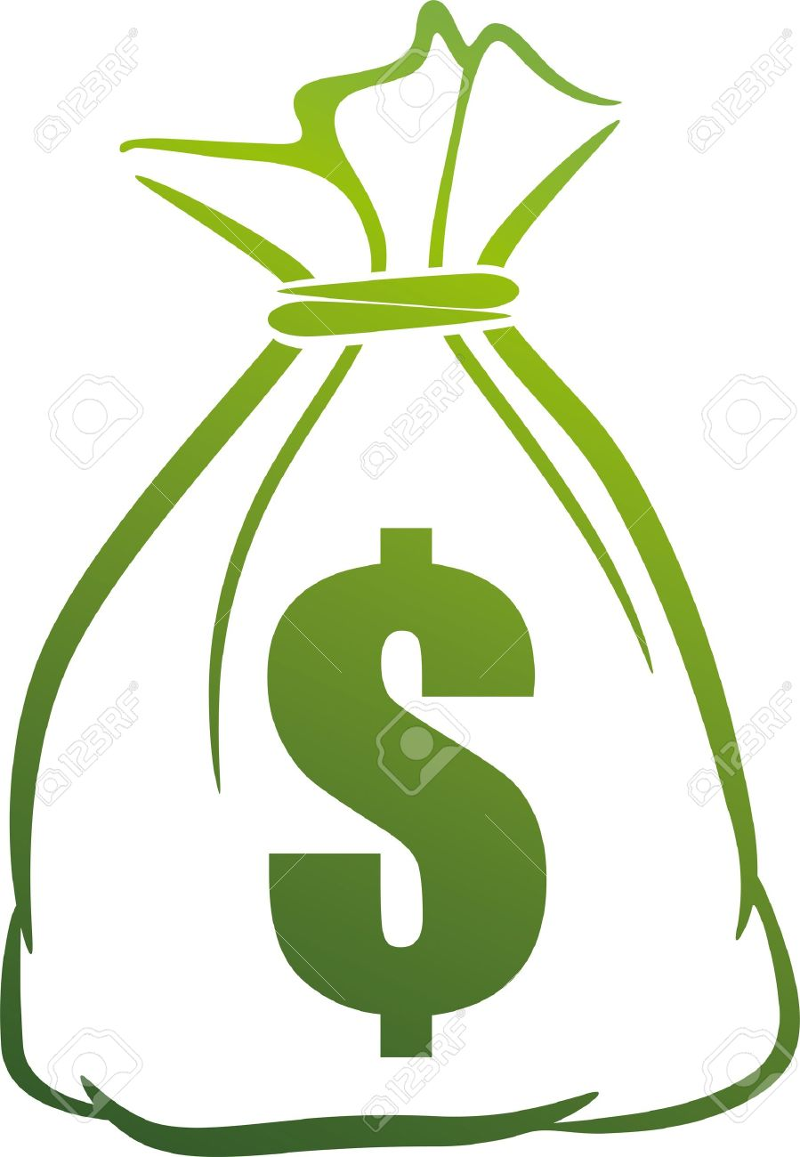 illustration with money bag Stock Vector - 9717846