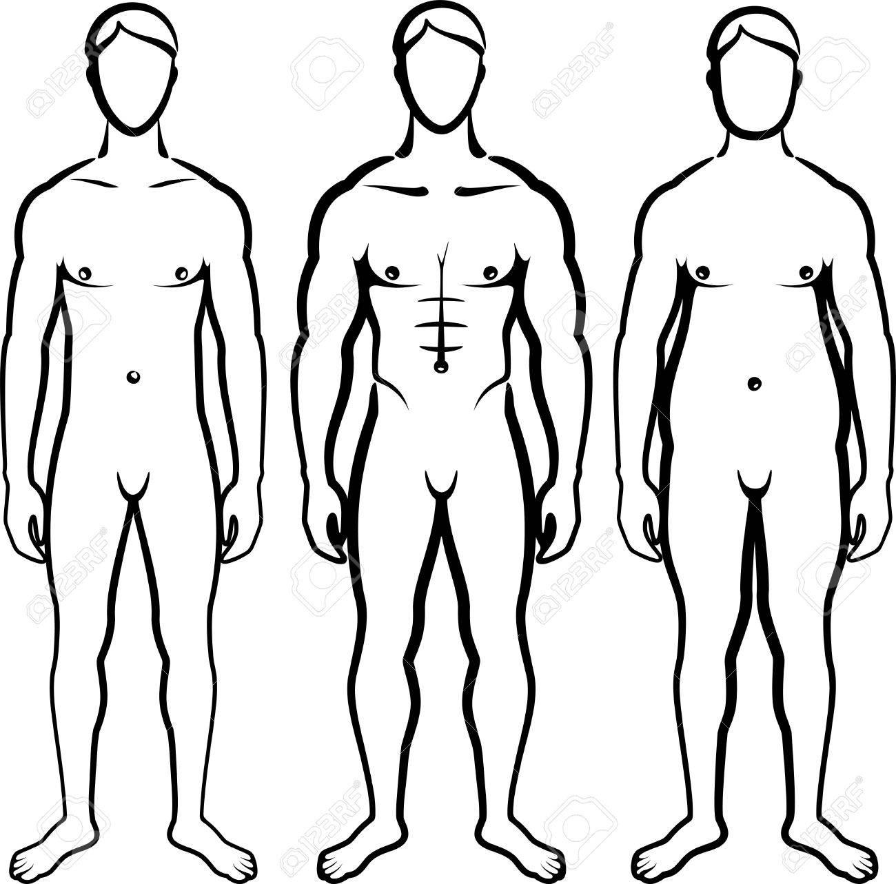 set of men body types Stock Vector - 9717845