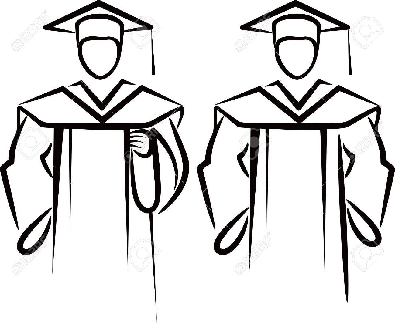 Pics photos how to draw a graduation hat - Graduation Uniform Drawing With A Graduate