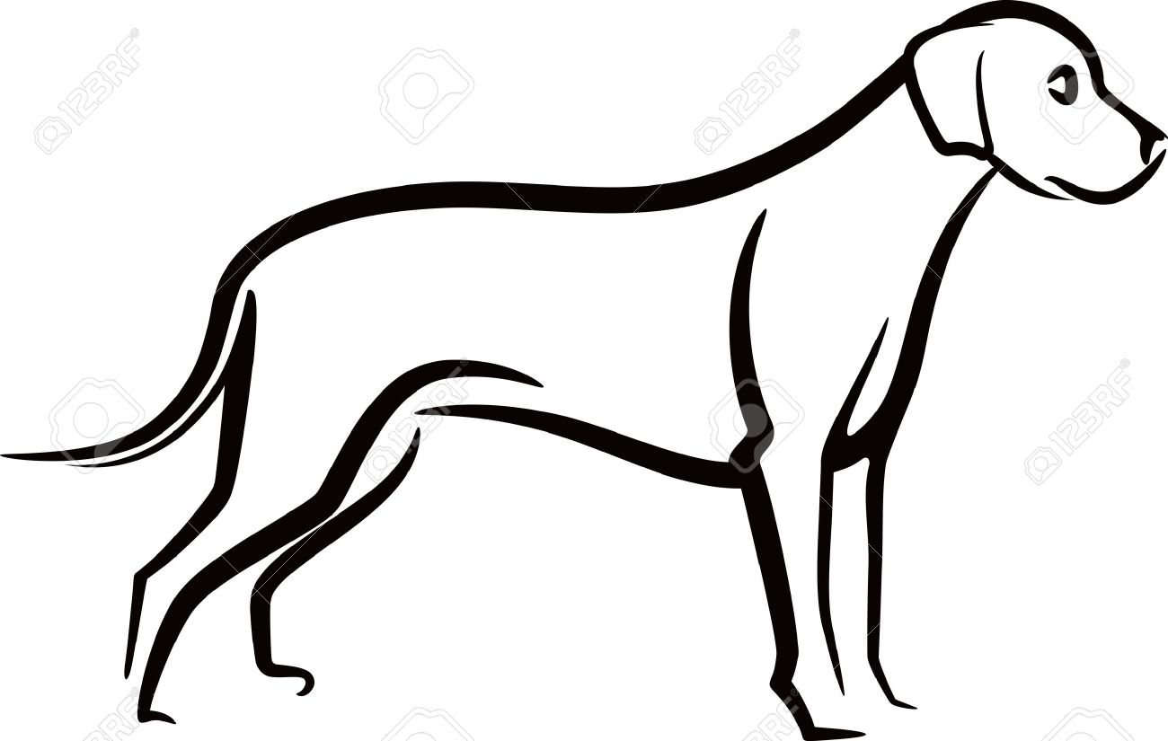 10,806 Dog Outline Stock Vector Illustration And Royalty Free Dog ...