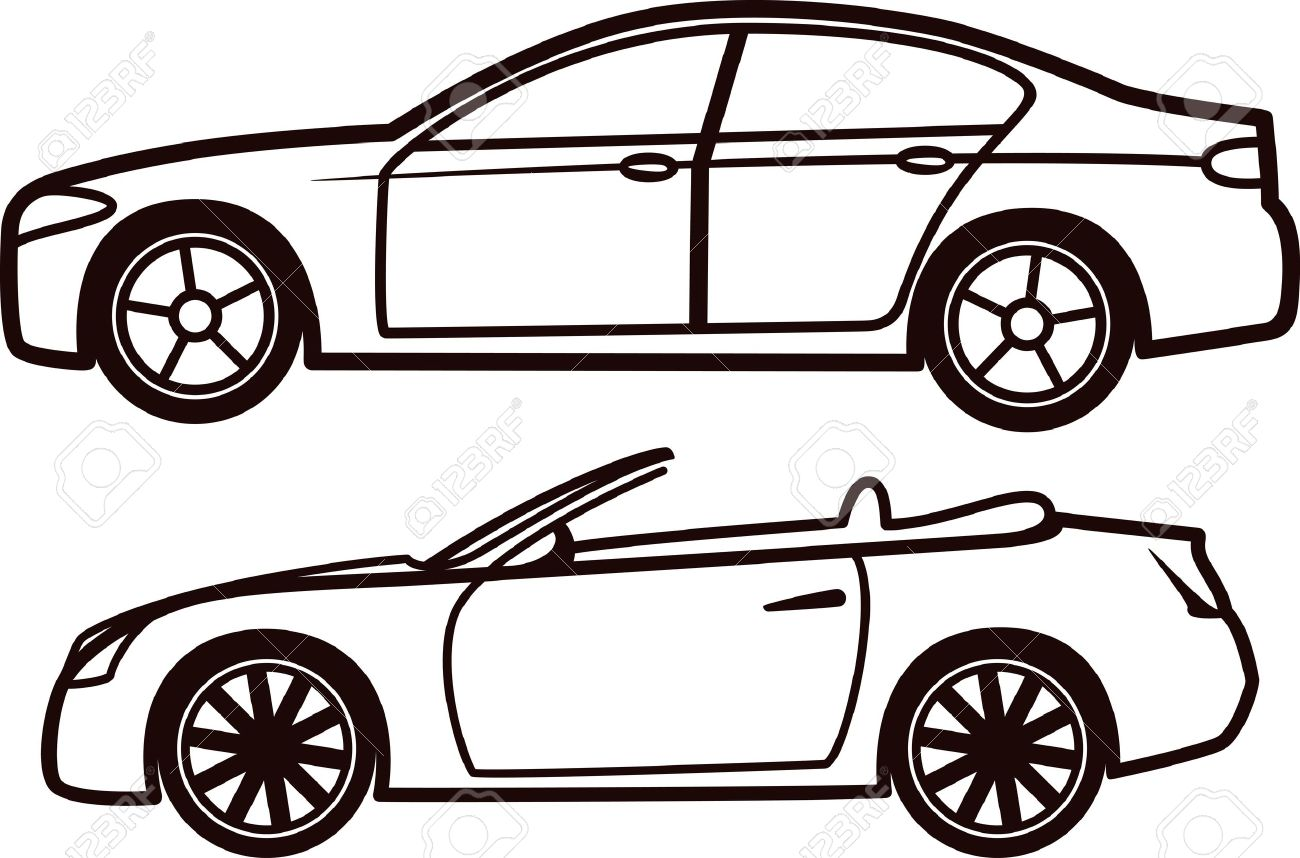 car collection royalty free cliparts vectors and stock rh 123rf com car outline logo vector car outline vector free
