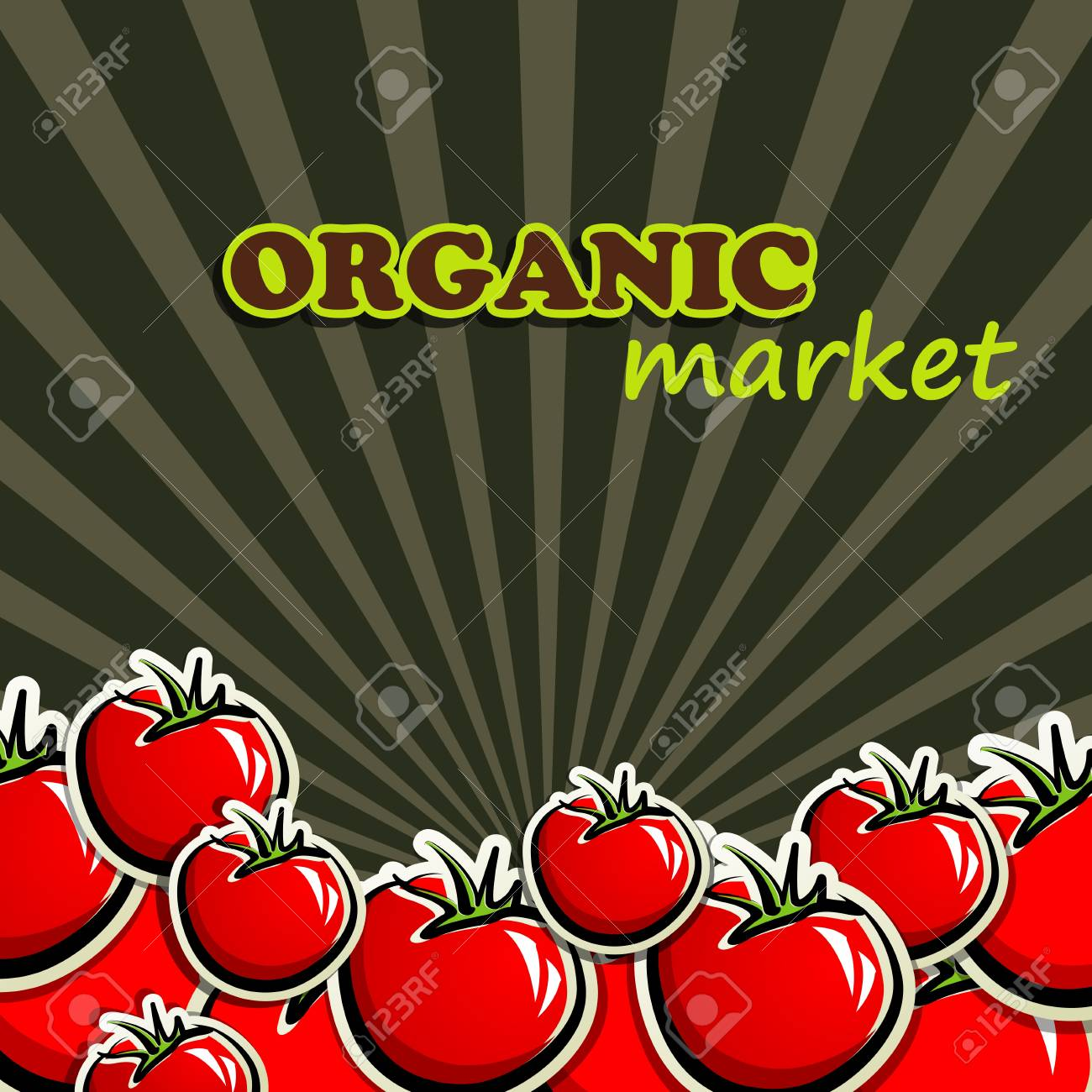 background with red tomatoes Stock Vector - 18825891