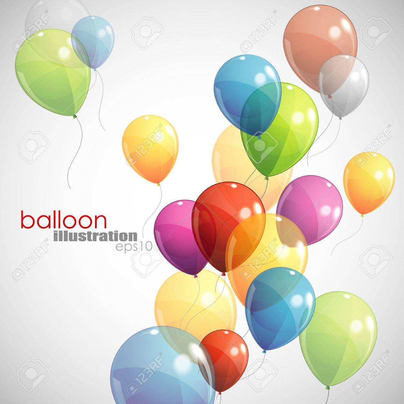 background with multicolored balloons Stock Vector - 18858009