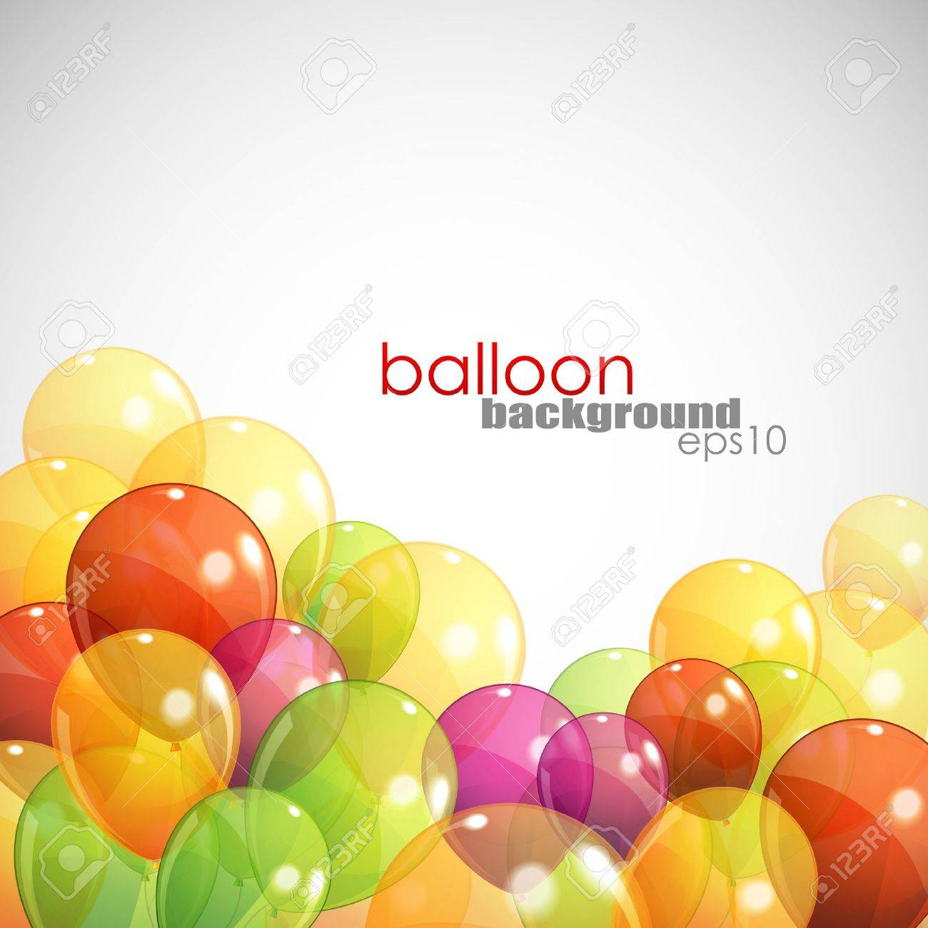 background with multicolored balloons - 18858002