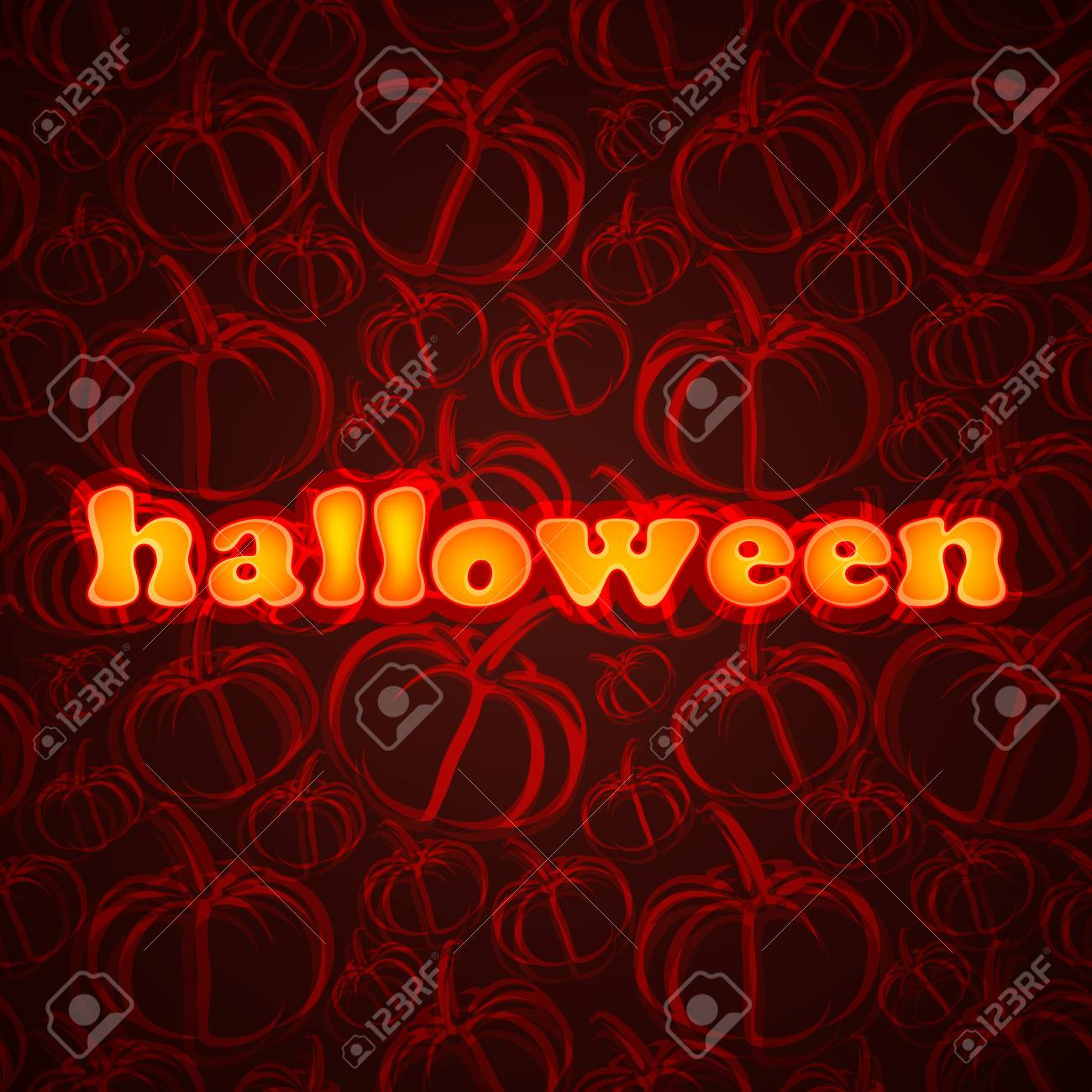 Halloween. Abstract background with pumpkin Stock Vector - 18858072
