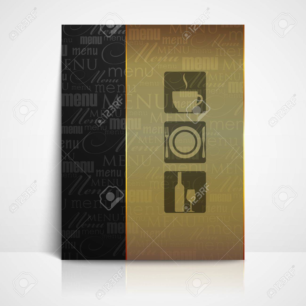restaurant menu template Stock Vector - 21062286