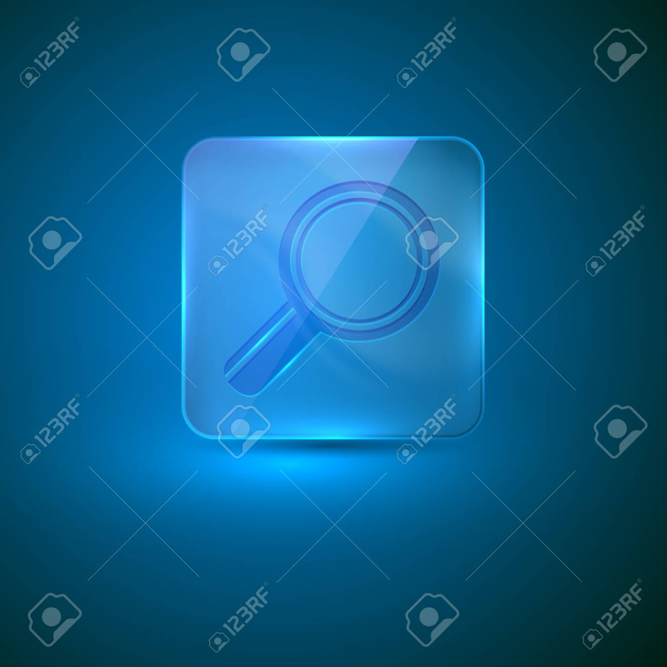 search icon  glass icon with magnifier Stock Vector - 21432293