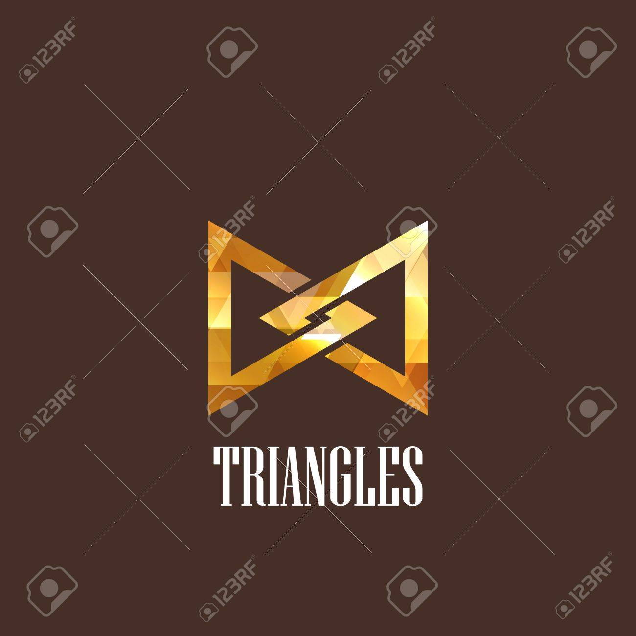 illustration with a diamond triangles icon Stock Vector - 22030242