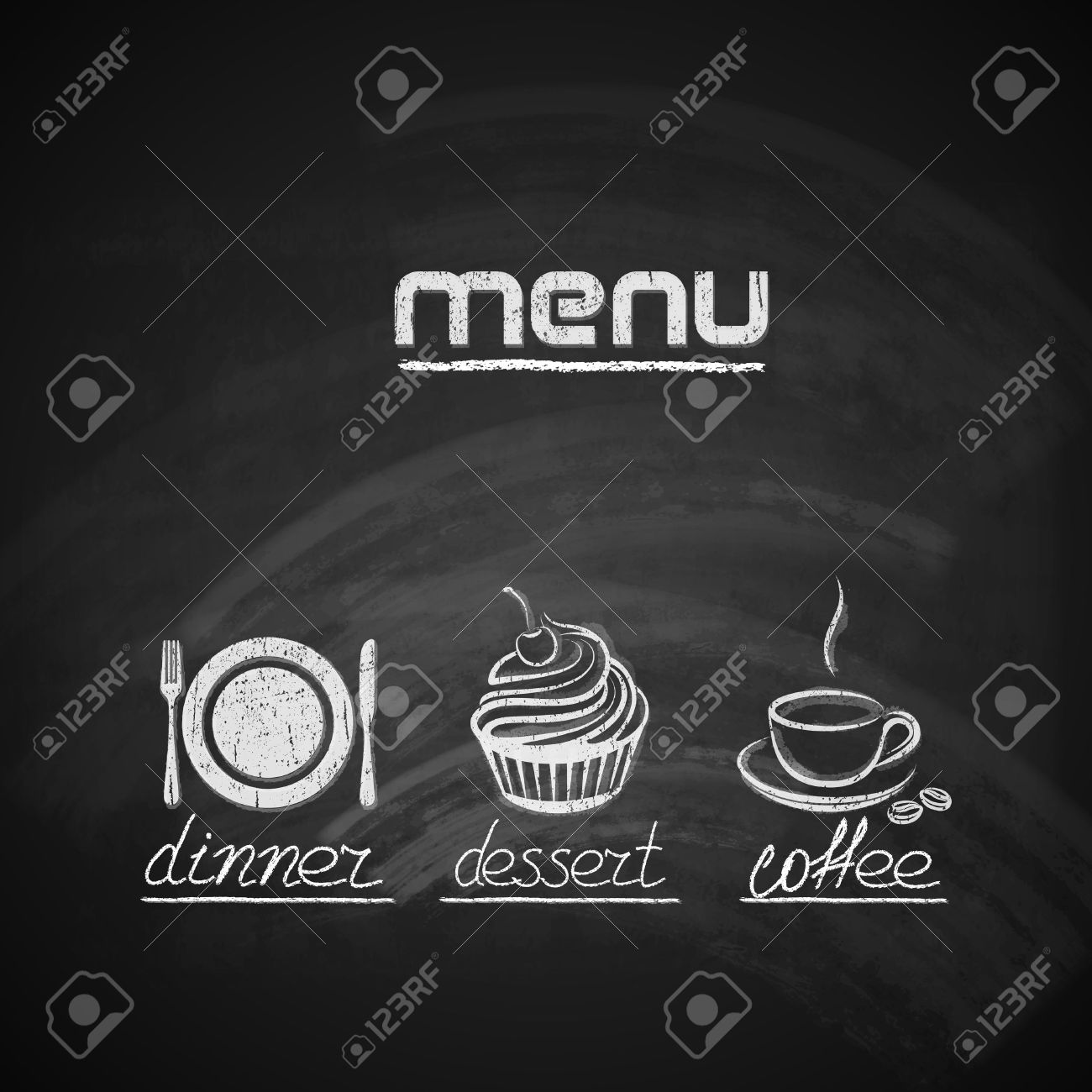 Retro Chalkboards For Kitchen 7334 Restaurant Menu Board Cliparts Stock Vector And Royalty