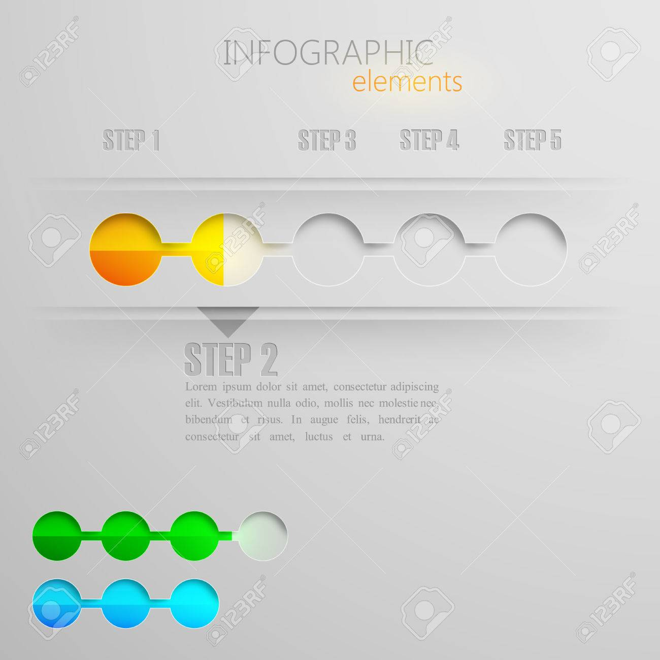 Design Layout Of Abstract 3d Paper Info Graphic Elements For ...