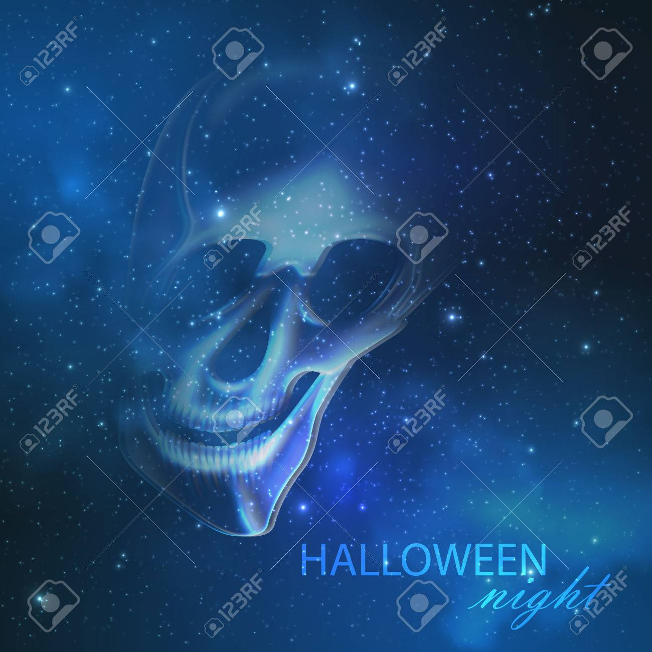 Most Inspiring Wallpaper Night Ghost - 33060535-spooky-vector-illustration-with-an-evil-ghost-skull-on-the-night-starry-sky-background-halloween-wal  2018-66195.jpg