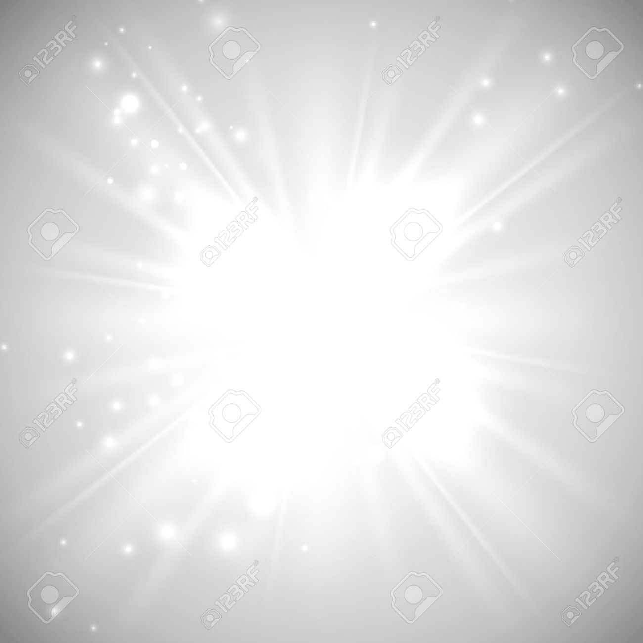 vector illustration of bright flash, explosion or burst on the white background - 36858162