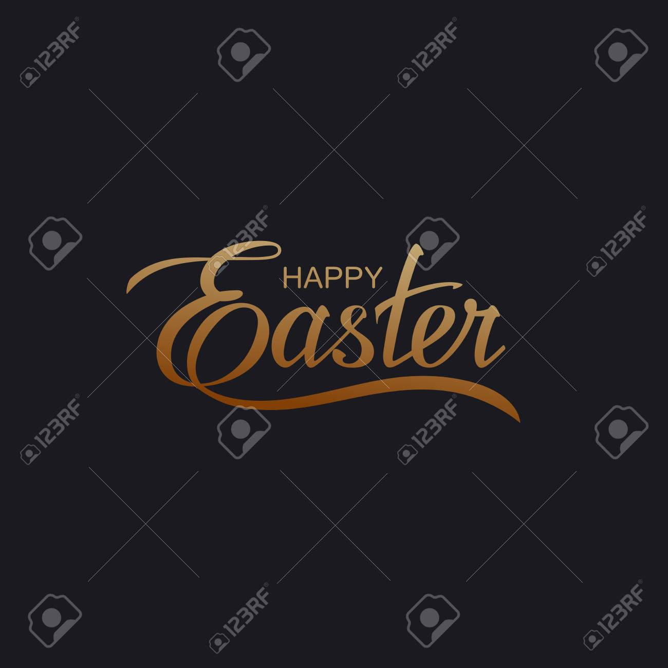 Happy Easter. Vector Illustration Of Holiday Religious Easter Lettering - 52043400