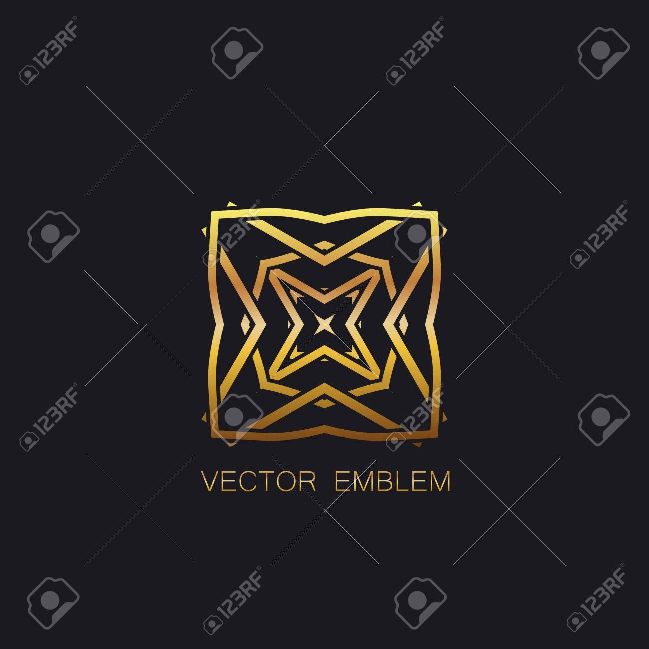 Vectoriser Embleme Floral Dore Art Deco Embleme D Or Signe De Monogramme D Or Element D Art En Ligne Art Deco Pour La Conception Ornement Celtic D Or Pour La Conception Vecteur Embleme D Or Clip Art Libres De