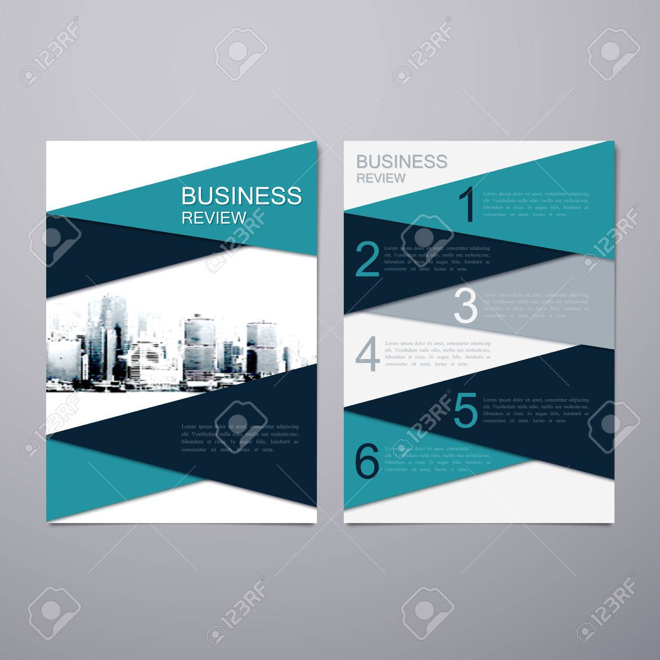 Business Review Leaflet. Brochure Or Flyer A4 Size Template Design ...