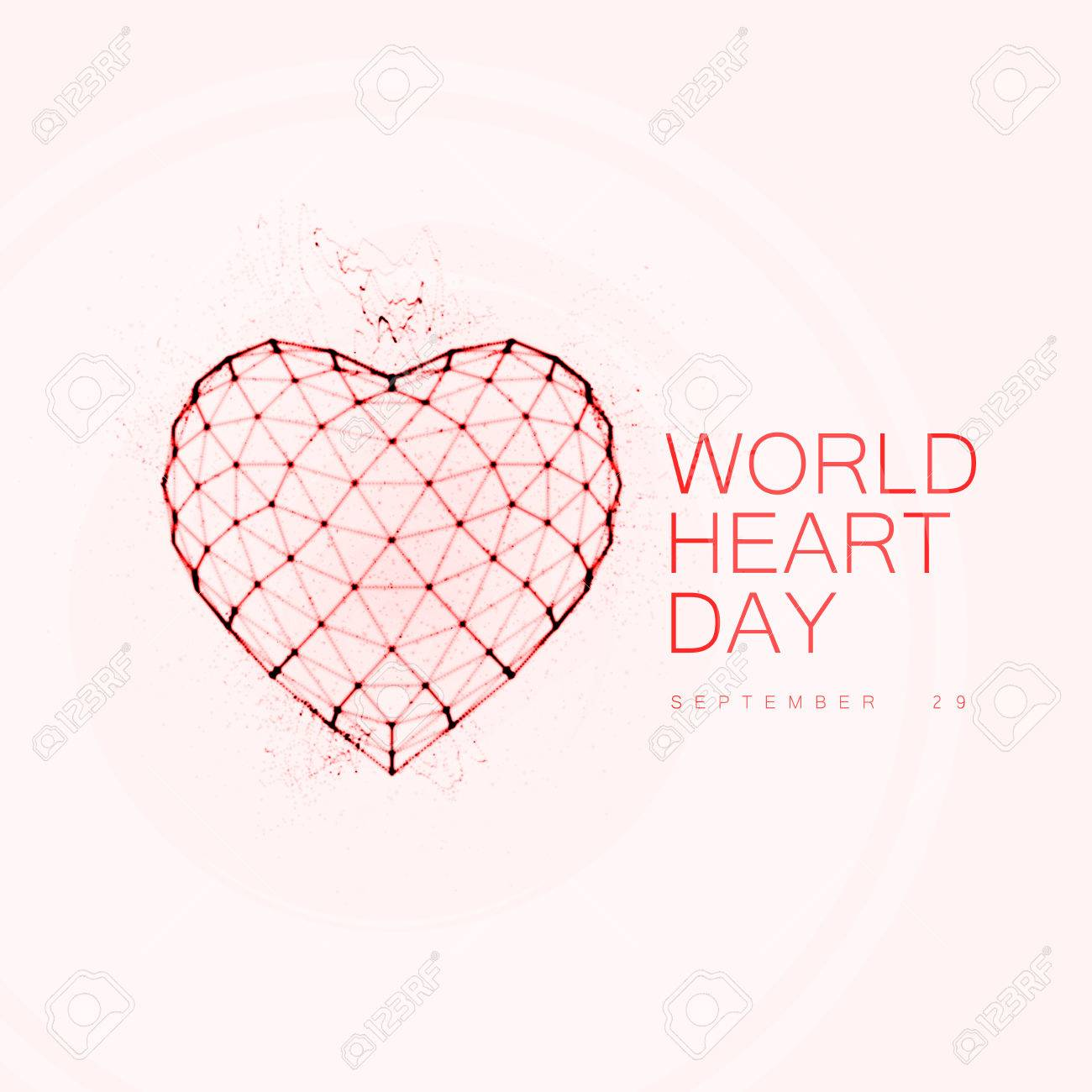 Antecedentes Día Mundial Del Corazón. La Forma Del Corazón Alambre ...