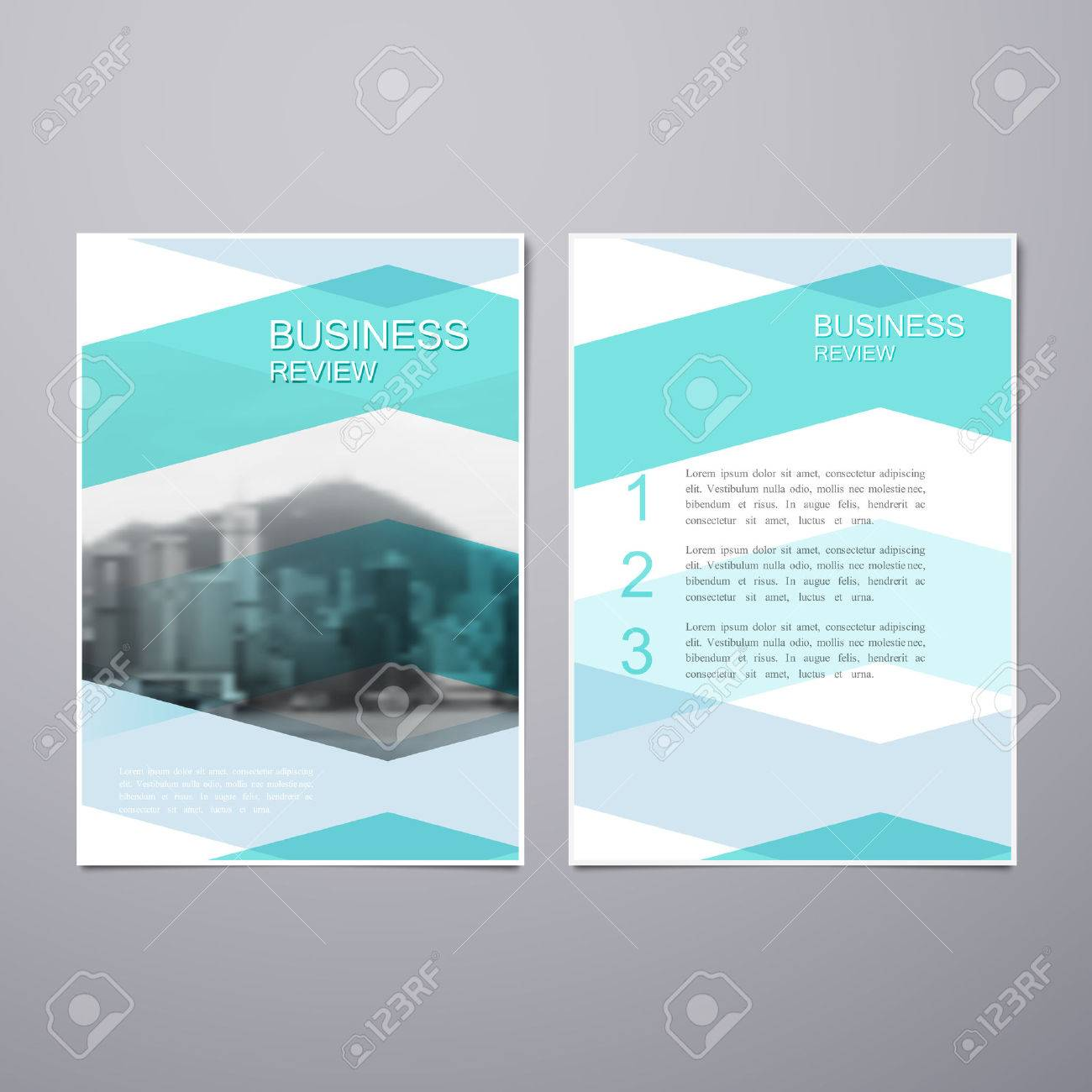 business review leaflet. brochure or flyer a4 size template design, Presentation templates