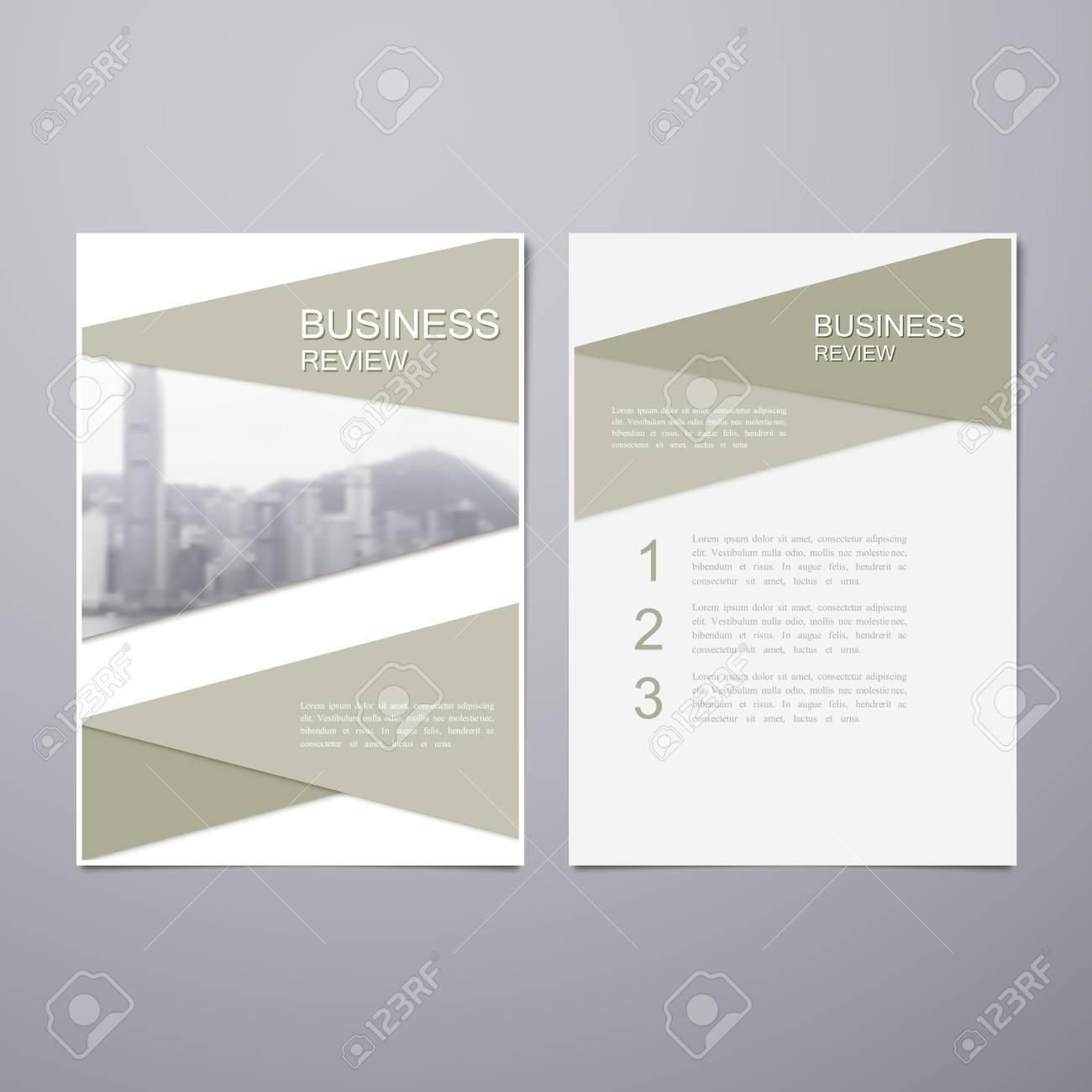 Business Review Leaflet  Brochure or Flyer A4 size template design