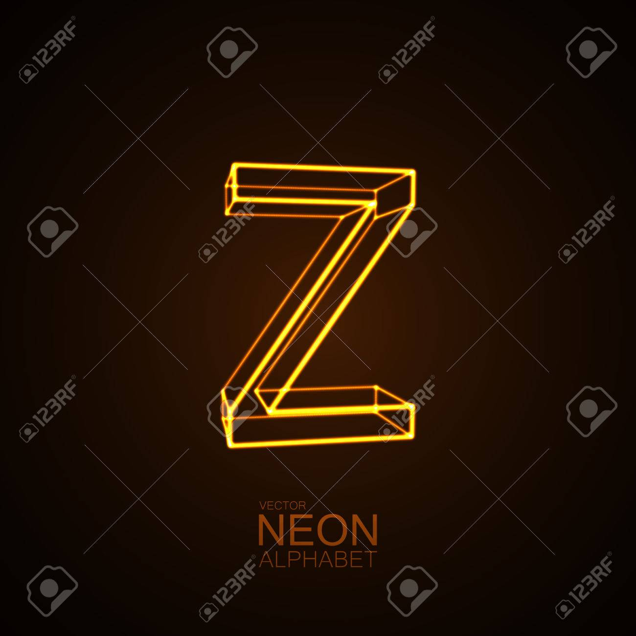 Neon 3d letter z typographic vector element for design part neon 3d letter z typographic vector element for design part of glow neon alphabet buycottarizona Choice Image
