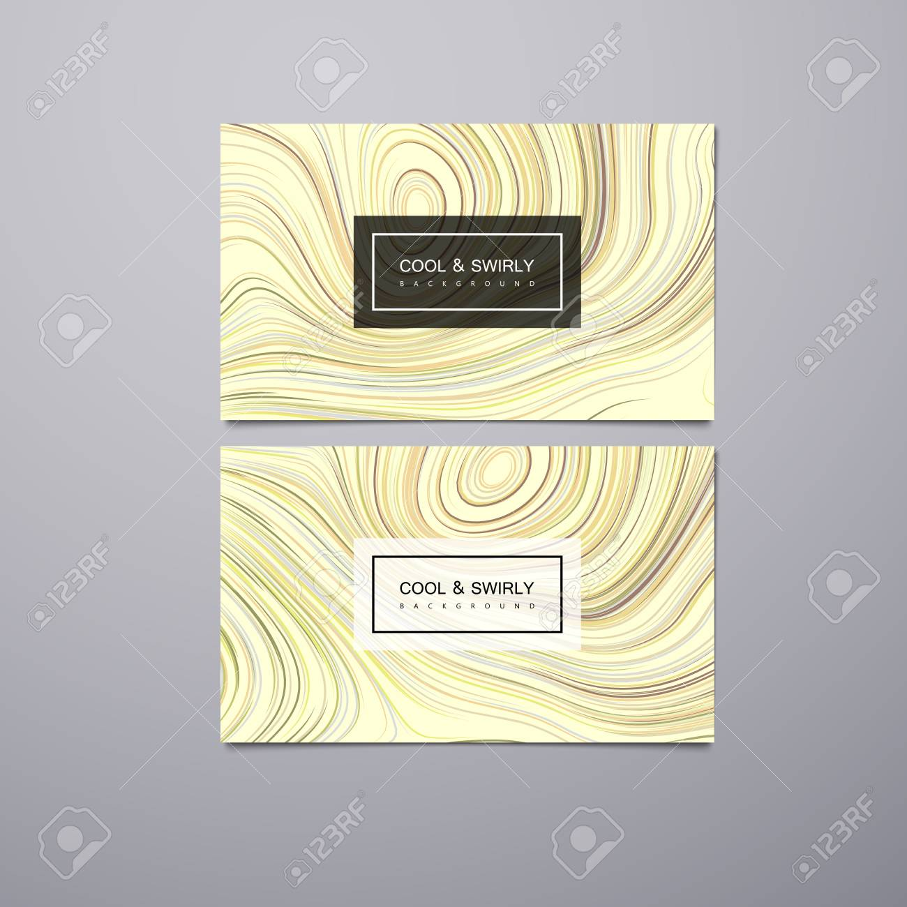 Greeting invitation business gift cards design template with greeting invitation business gift cards design template with swirled iridescent lines vector colourmoves