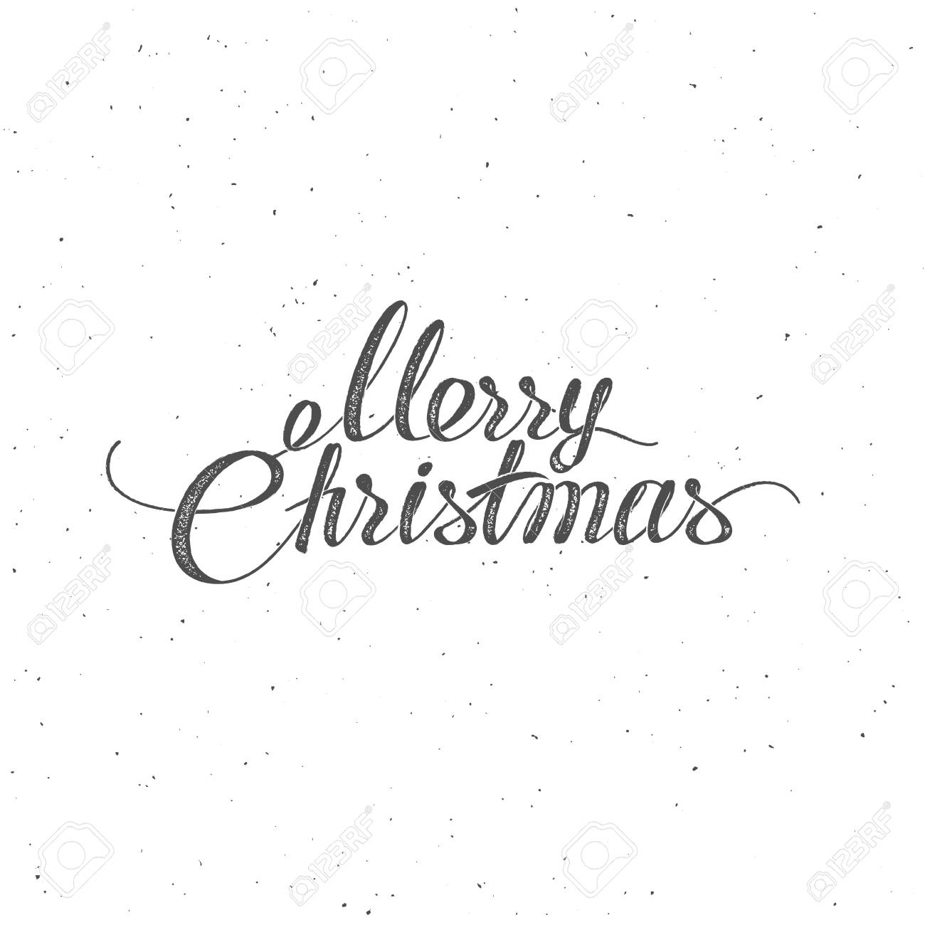 Merry Christmas. Lettering Vintage Design. Holiday Illustration ...