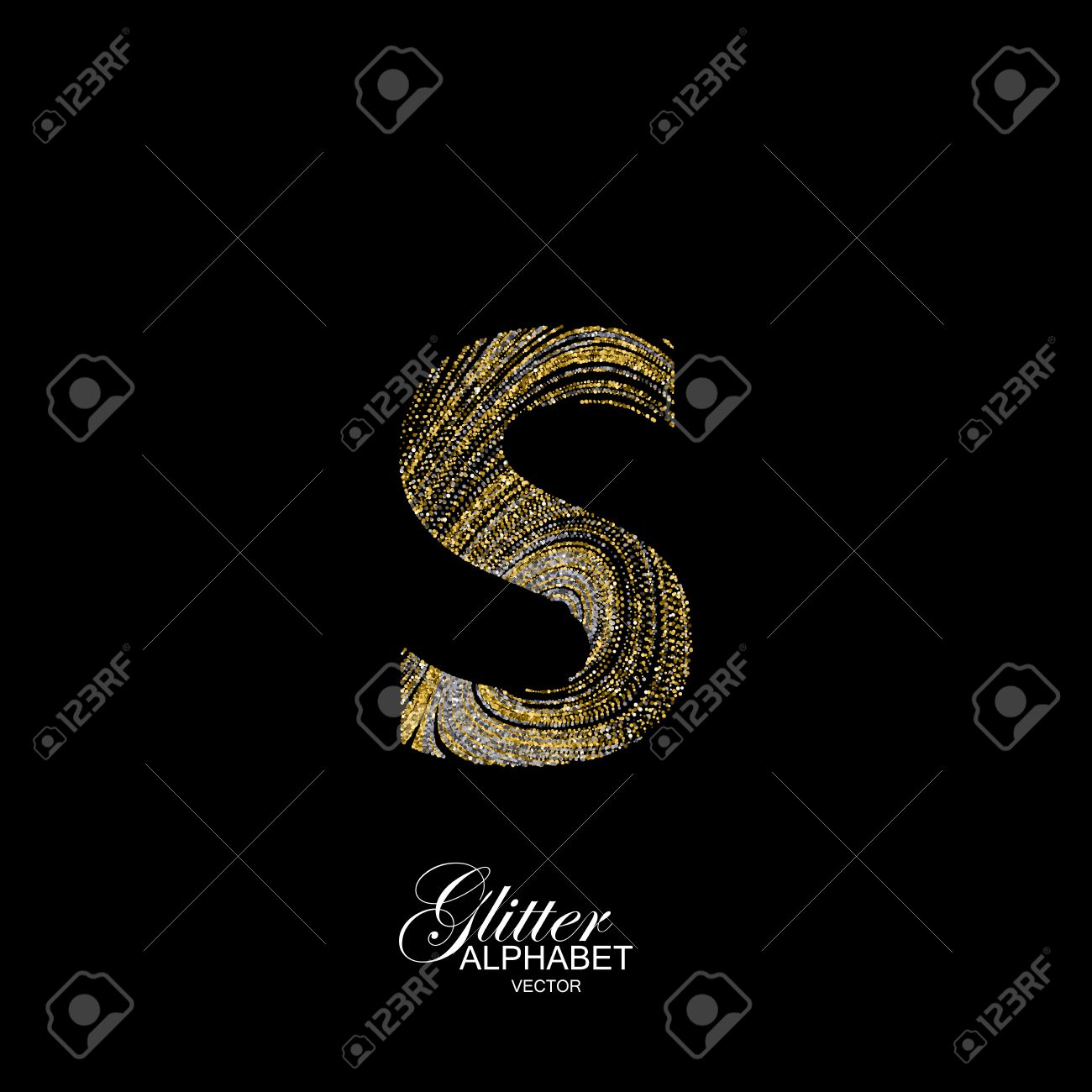 Letter s of golden and silver glitters typographic element for letter s of golden and silver glitters typographic element for design part of marble buycottarizona