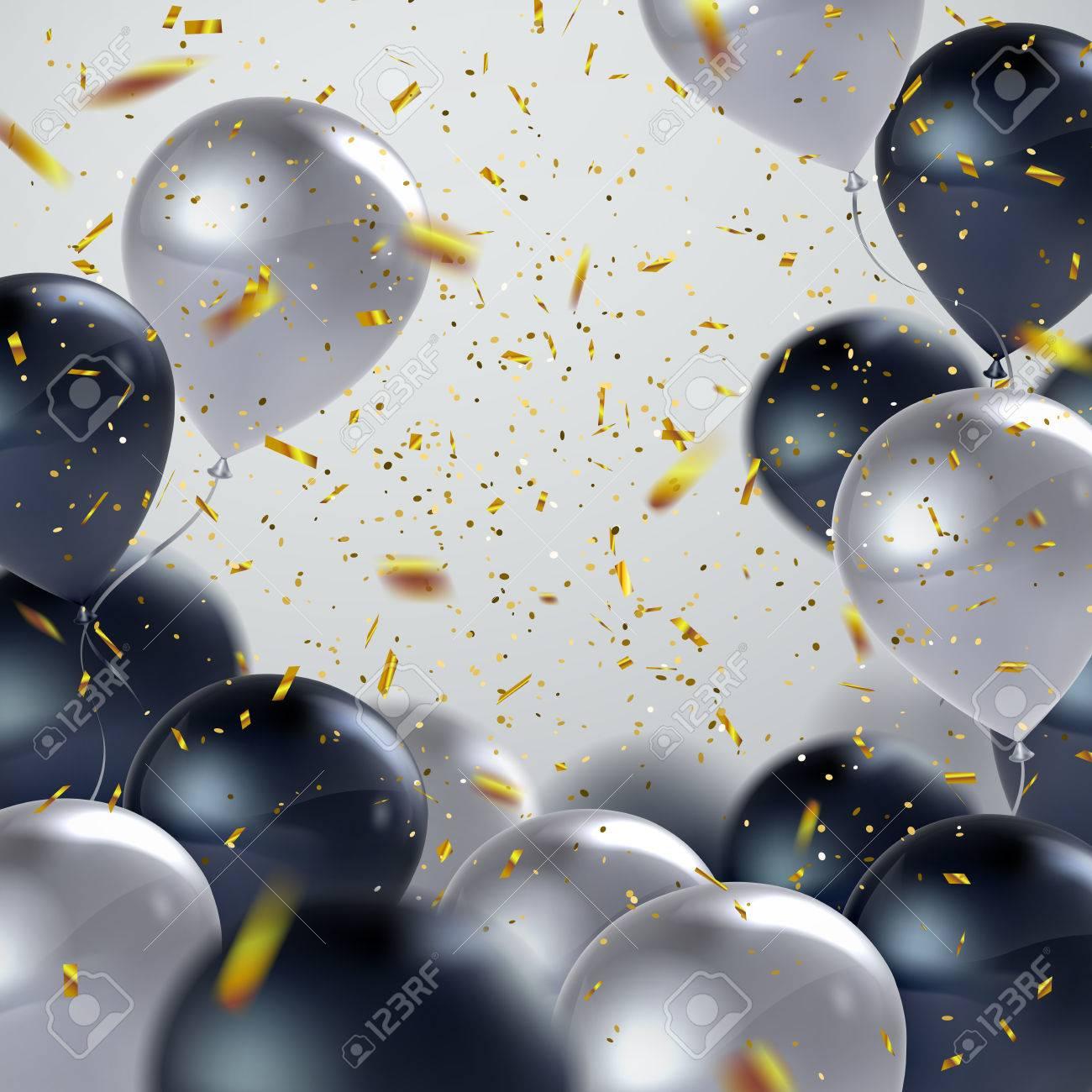 Realistic glossy balloons - 71079454