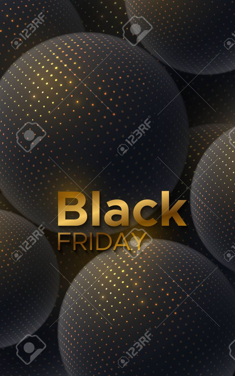 Black Friday sale poster  Commercial discount event banner  Black