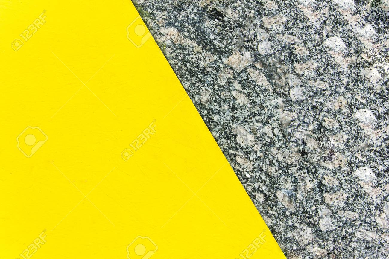 Two-color abstract background. Part yellow and part marble. Texture of natural marble background. Pattern - 76652180