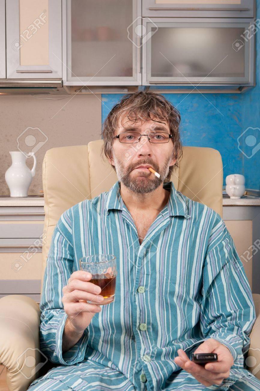 Drunken mature facial