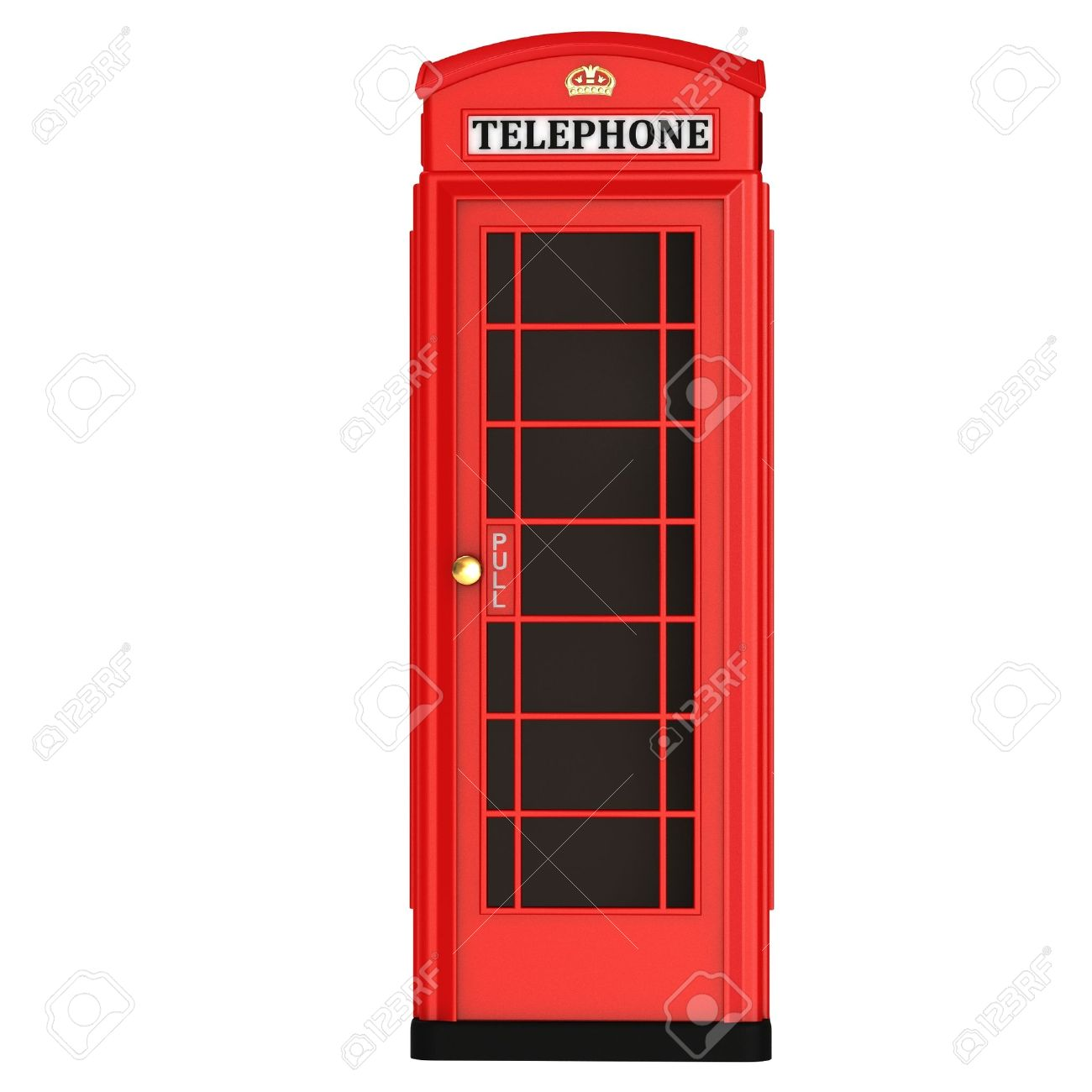 The British red phone booth isolated on a white background Stock Photo - 11957589