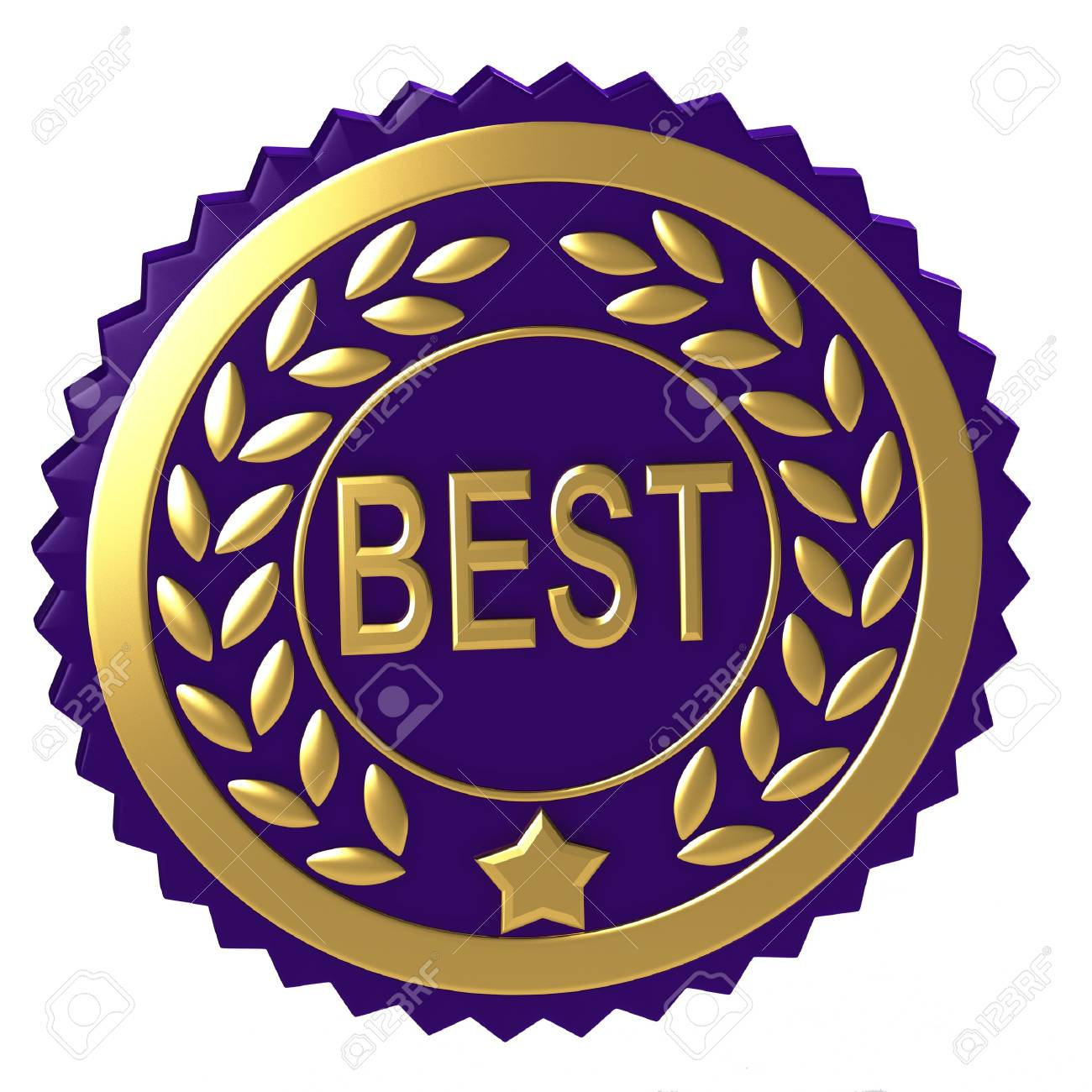 Purple awards with golden elements Stock Photo - 12065743