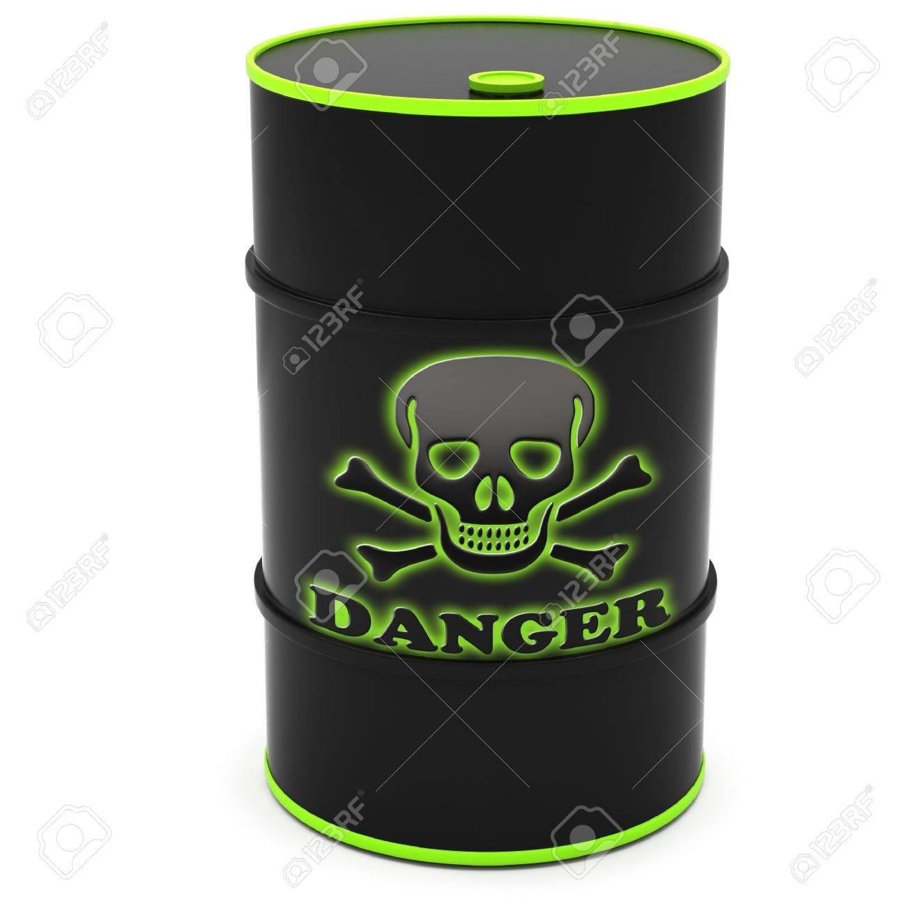 Barrels for storage of hazardous substances on a white background. Stock Photo - 12313337