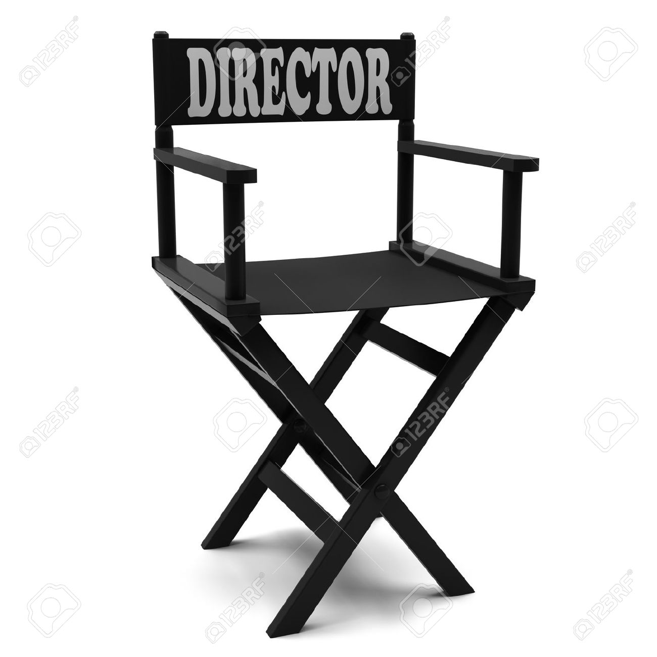Gentil Flim Industry Directors Chair On A White Background Stock Photo   13127062