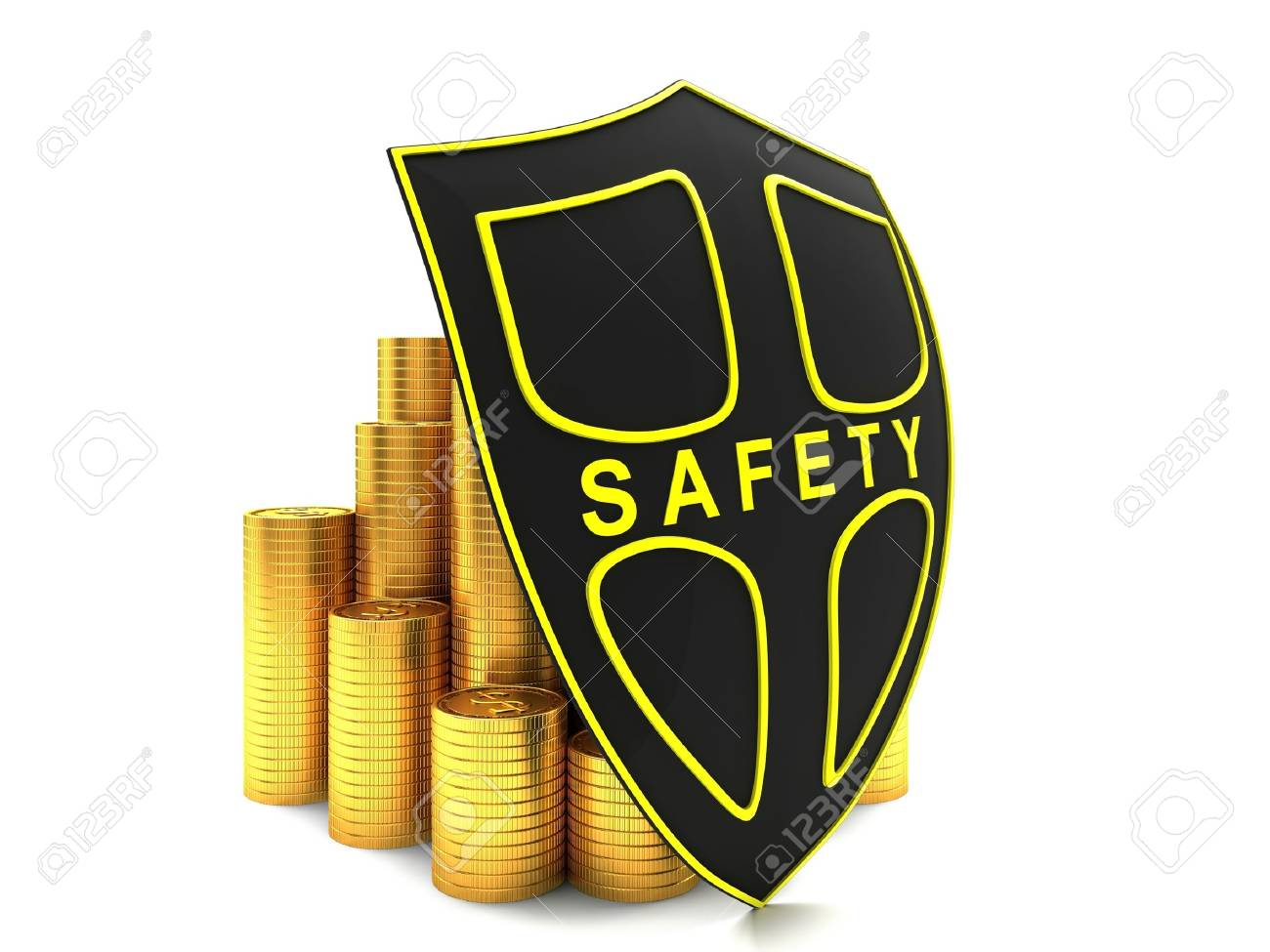 Investment is protected. Illustration on white background. Stock Illustration - 16464951