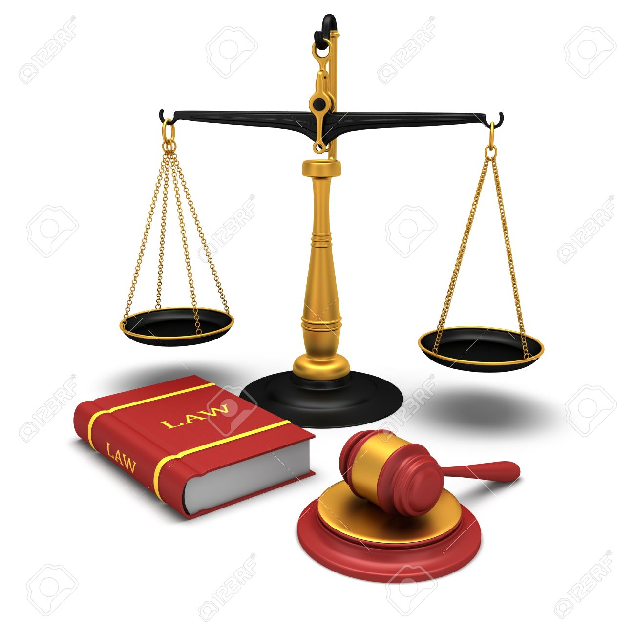 Justice scale and gavel and a book of laws Stock Photo - 18824281